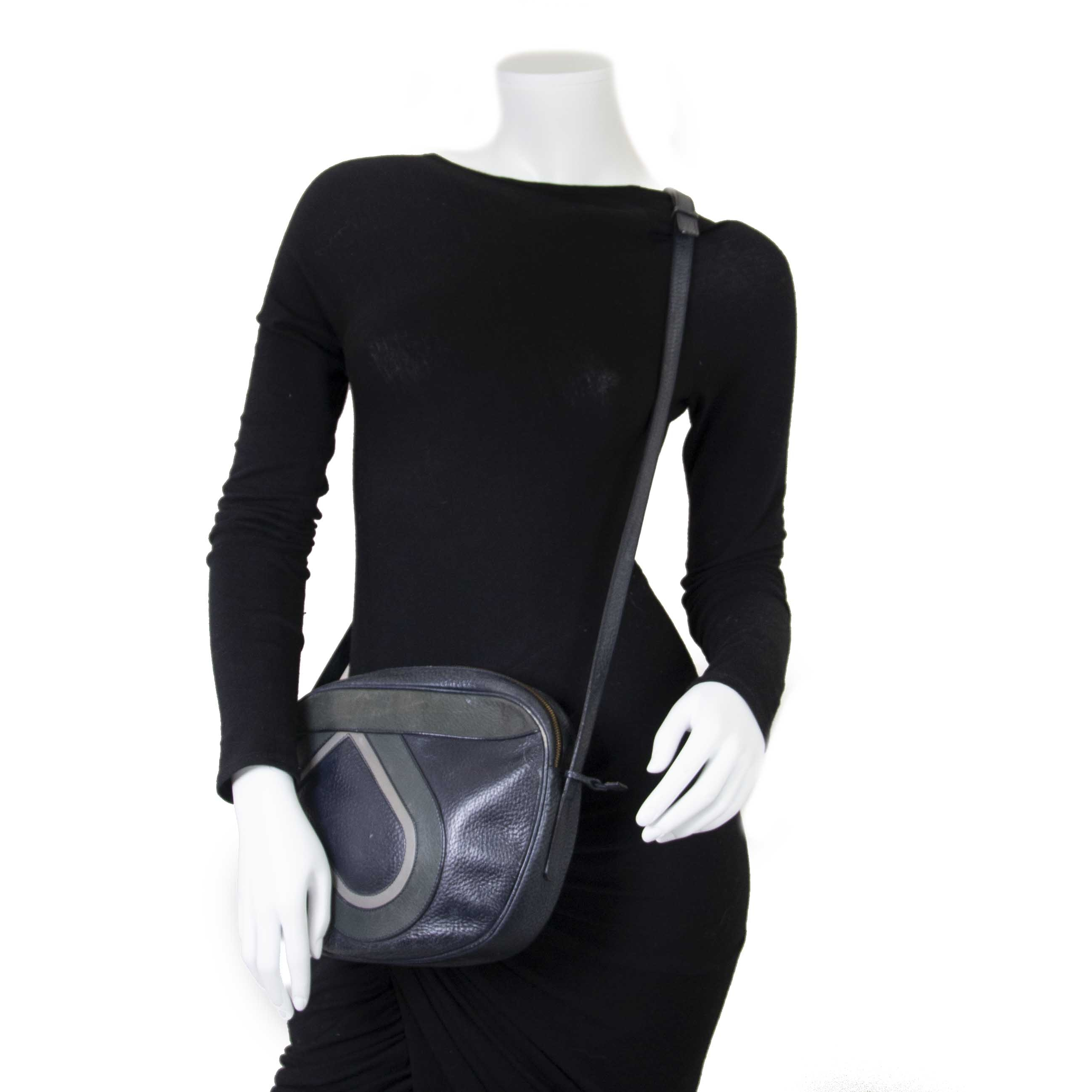 Delvaux Blue And Green Sebardeur PM Crossbody Bag now for sale at labellov vintage fashion webshop belgium