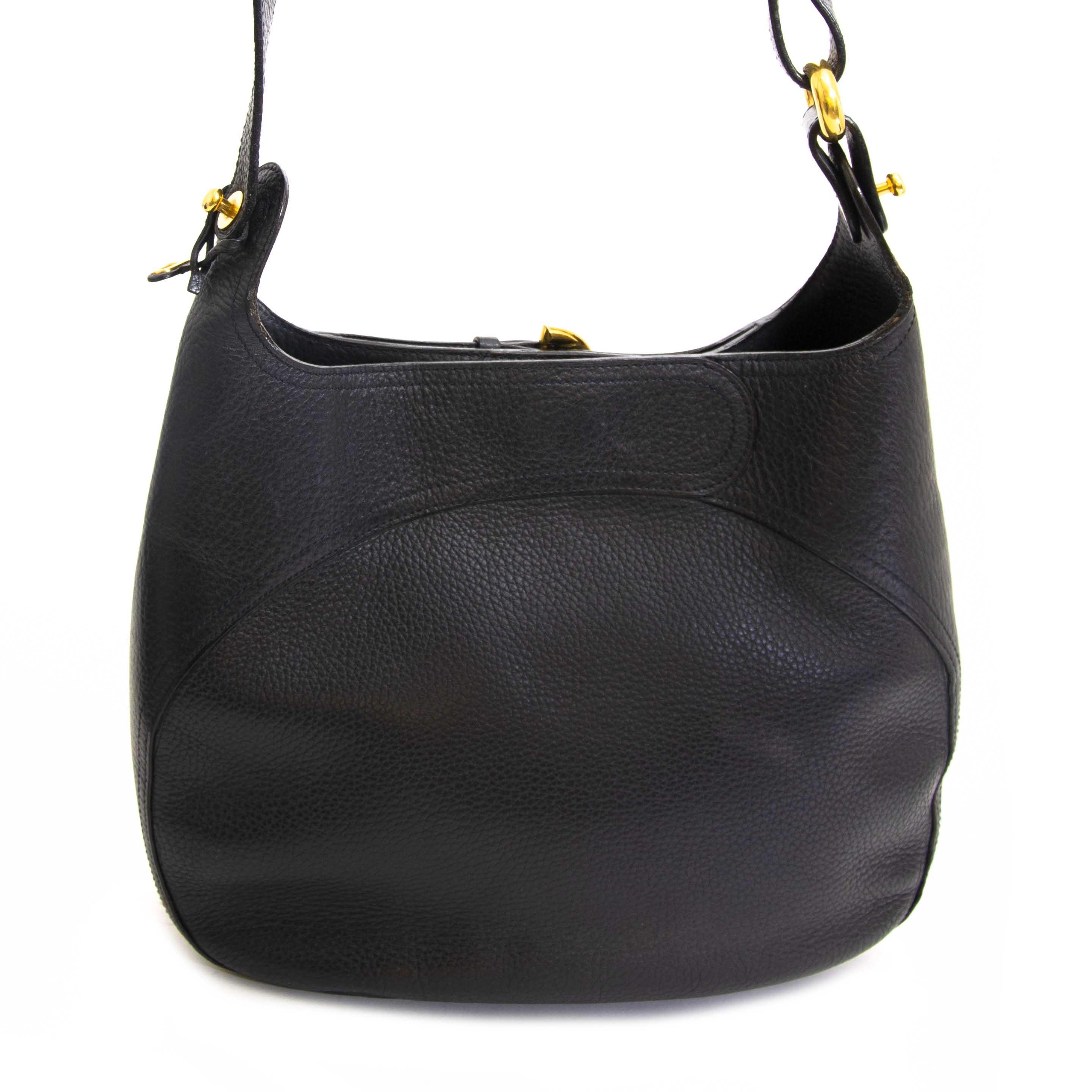 acheter en ligne seconde main Delvaux Dark Blue Leather Shoulder Bag
