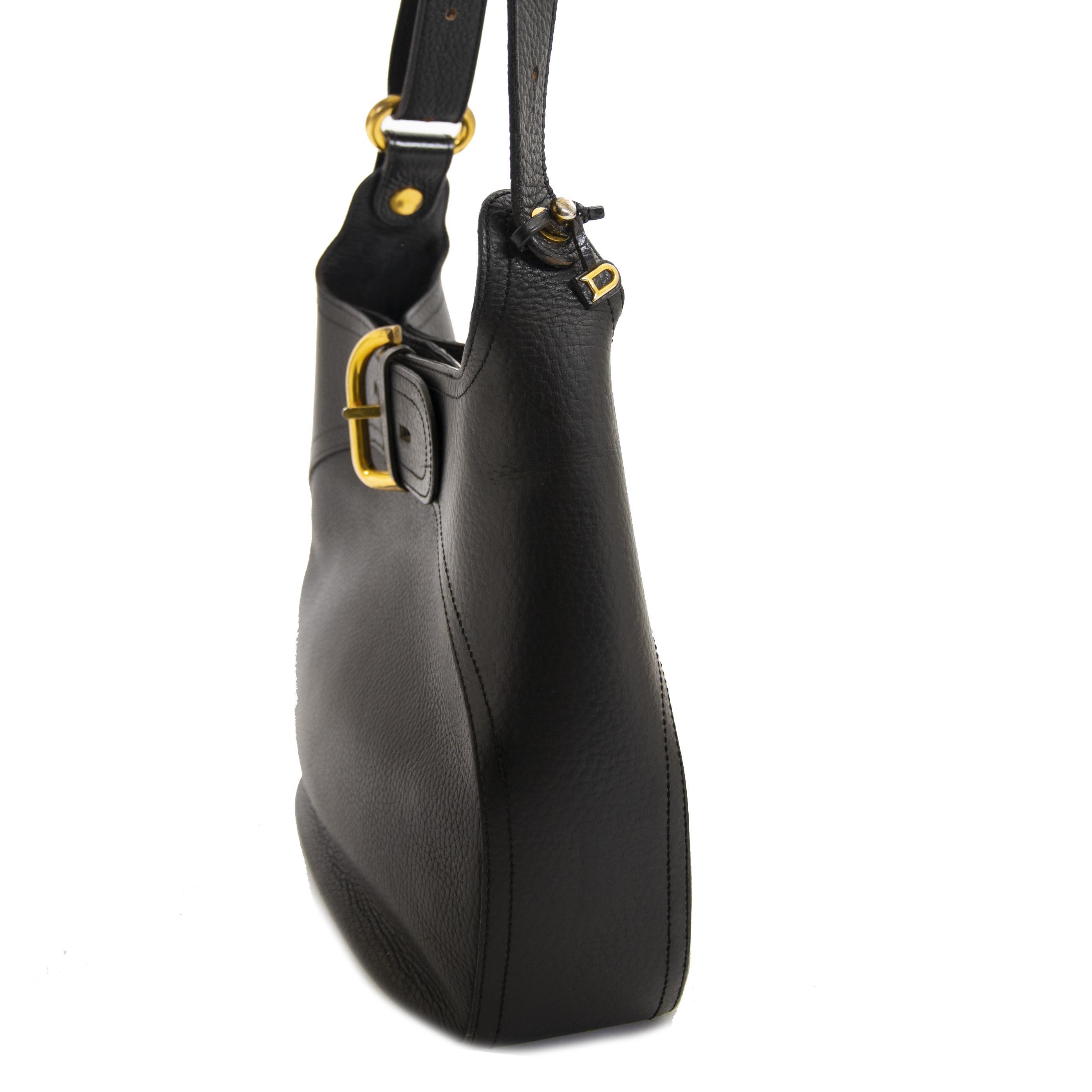 Delvaux Black Souveraine Shoulder Bag