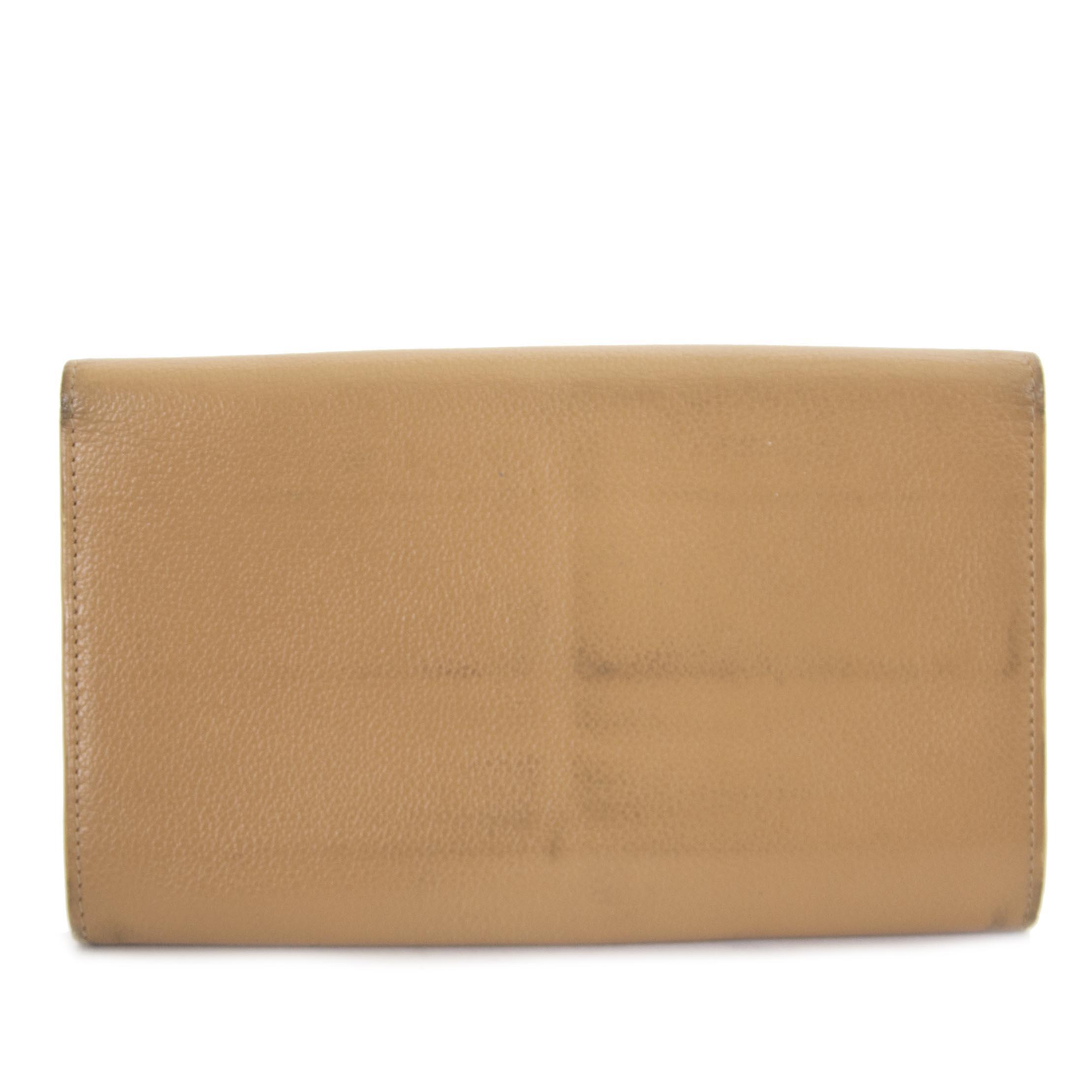Delvaux Beige Brillant Wallet now for sale at labellov vintage fashion webshop belgium
