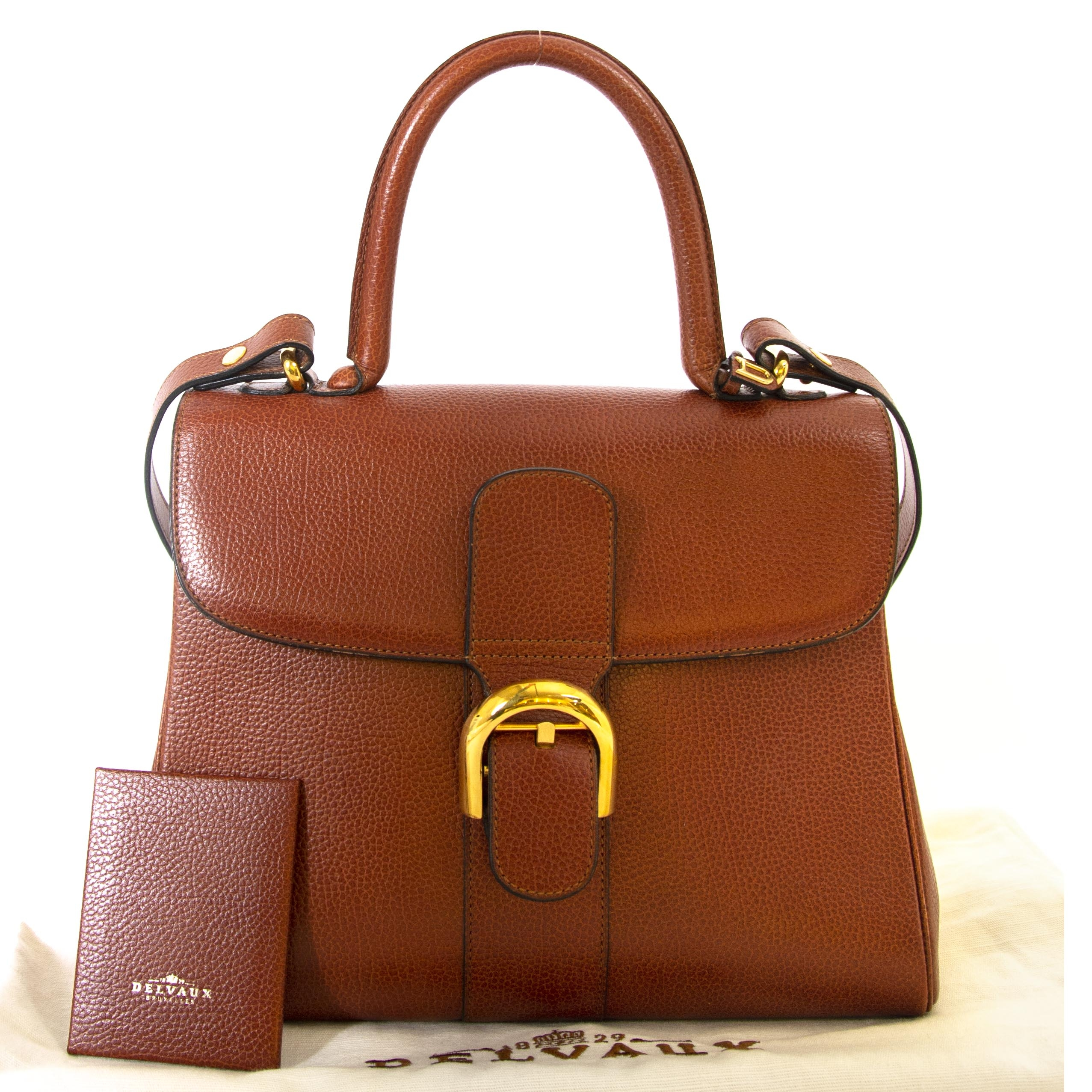 Delvaux Brillant Brown MM Bag now for sale at labellov vintage fashion webshop belgium