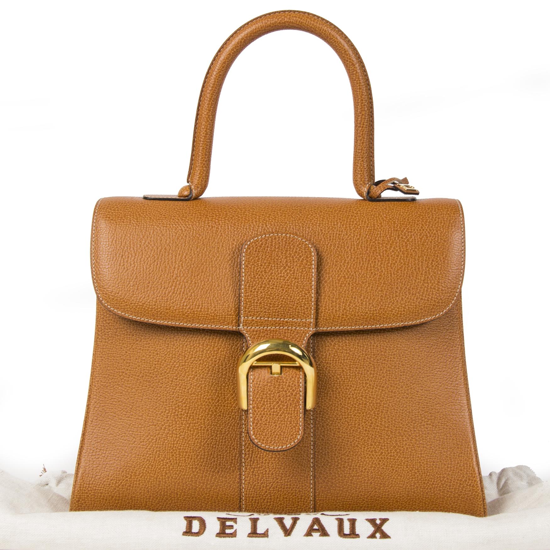 100% authentic Delvaux Camel Brillant MM Bag