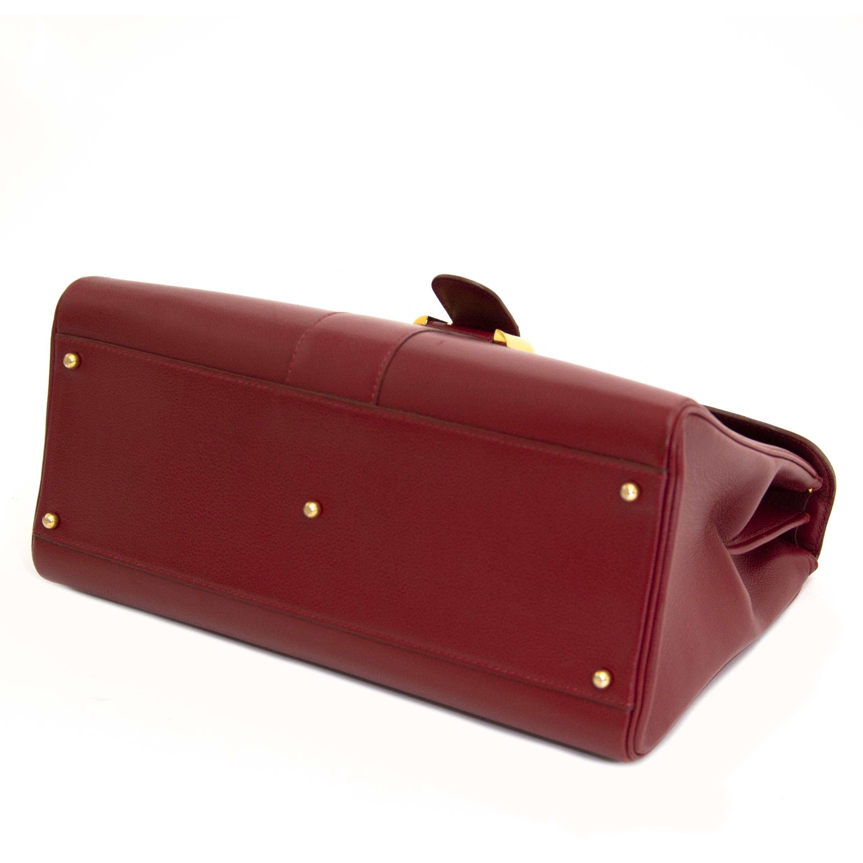 koop veilig online jou tweedehands Delvaux Red Brillant GM
