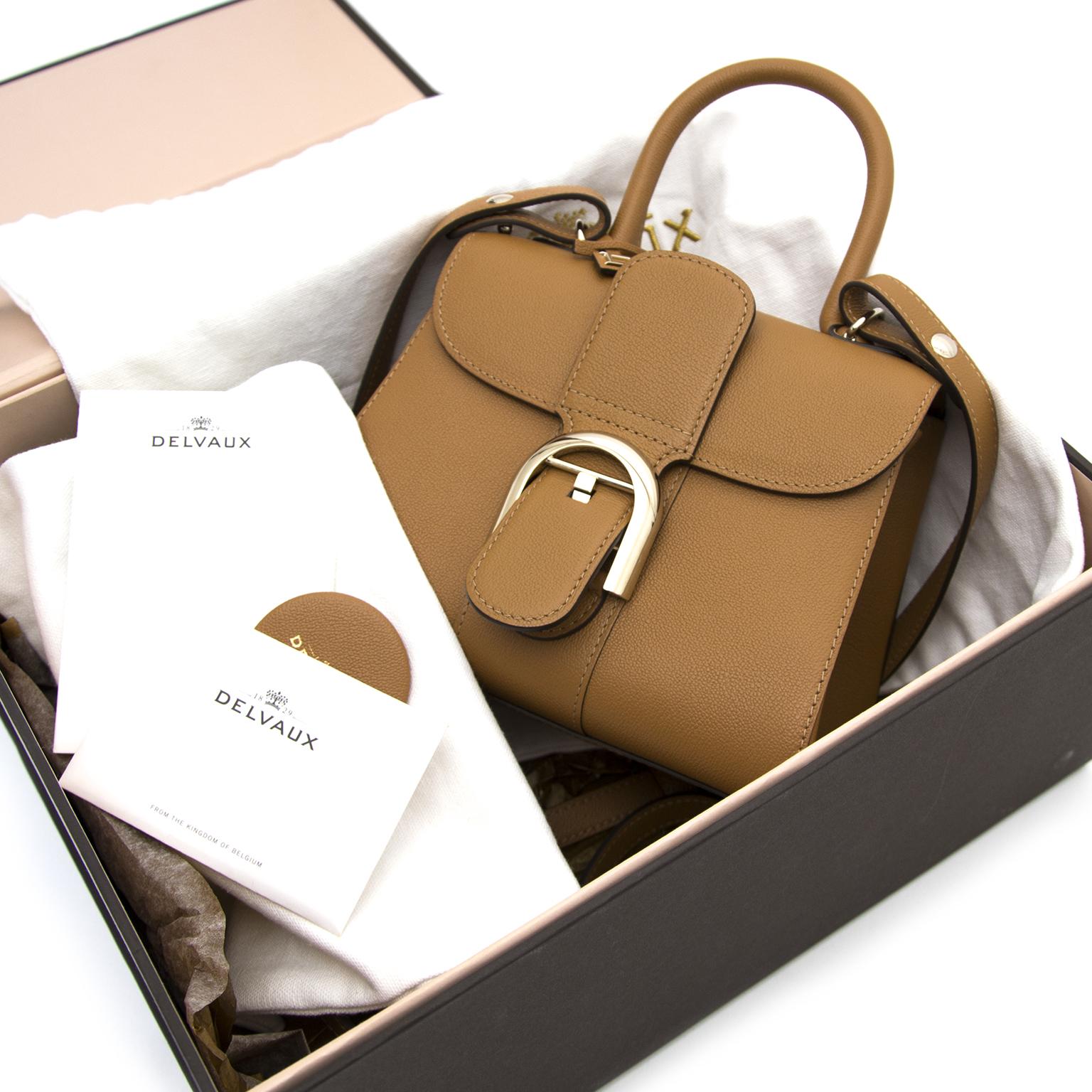acheter enligne comme neuf Delvaux Cognac Brillant mini sac a main