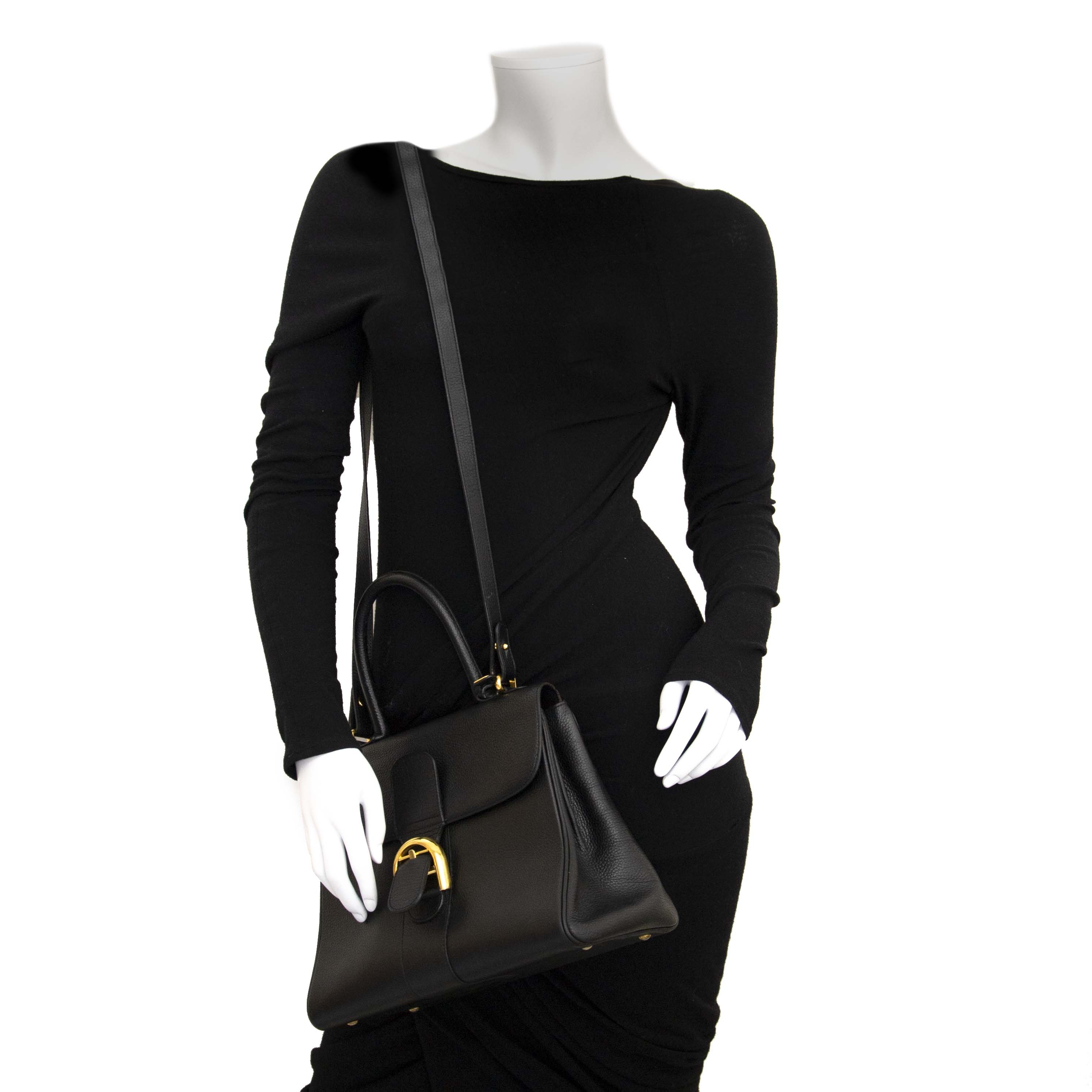 Delvaux Black Brillant MM + Strap  100% authentiek designer handtassen kopen online webshop