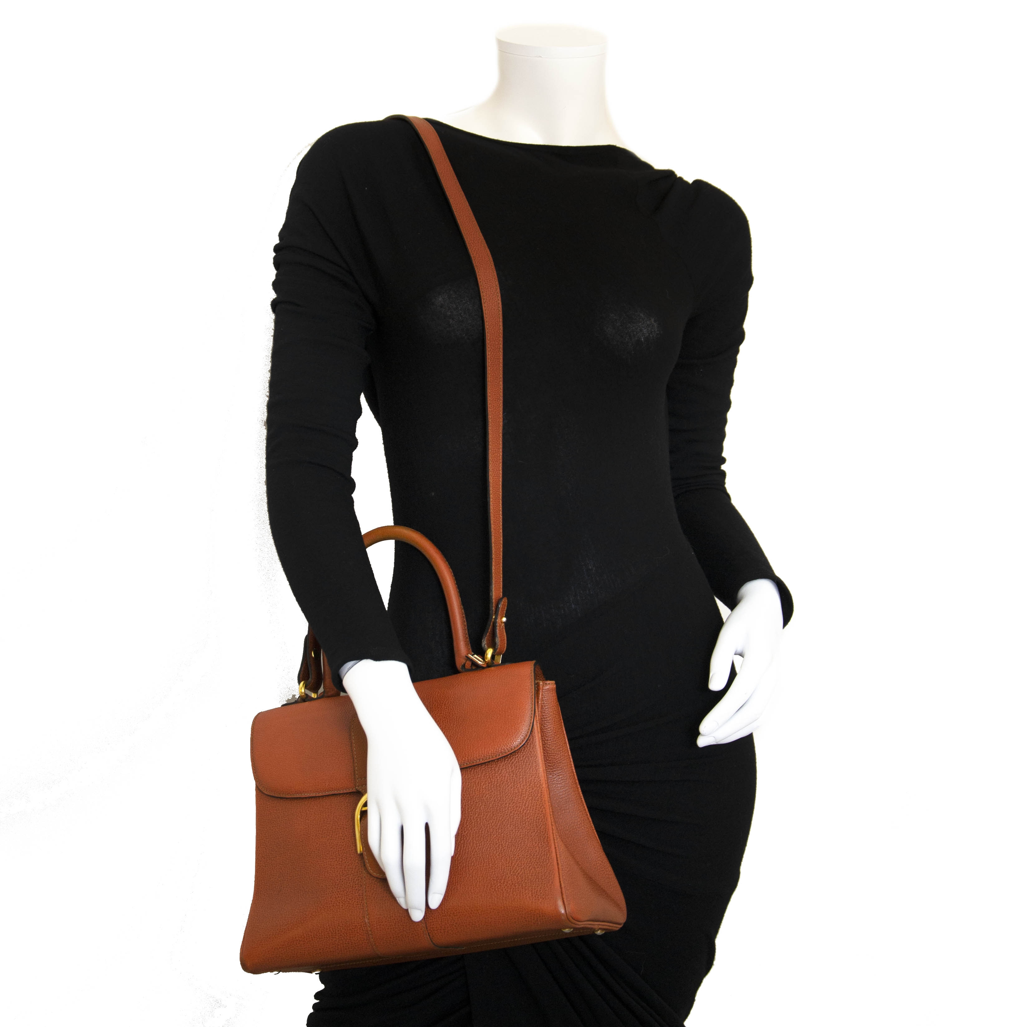 Delvaux Brillant Rust MM + Strap for the best price at Labellov secondhand luxury