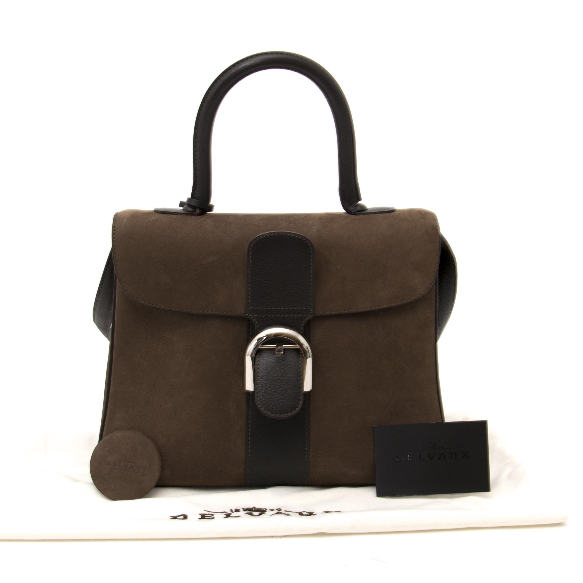 shop online aan de beste prijs shop safe Delvaux Brown Bicolor Brillant MM + Strap online at the best price