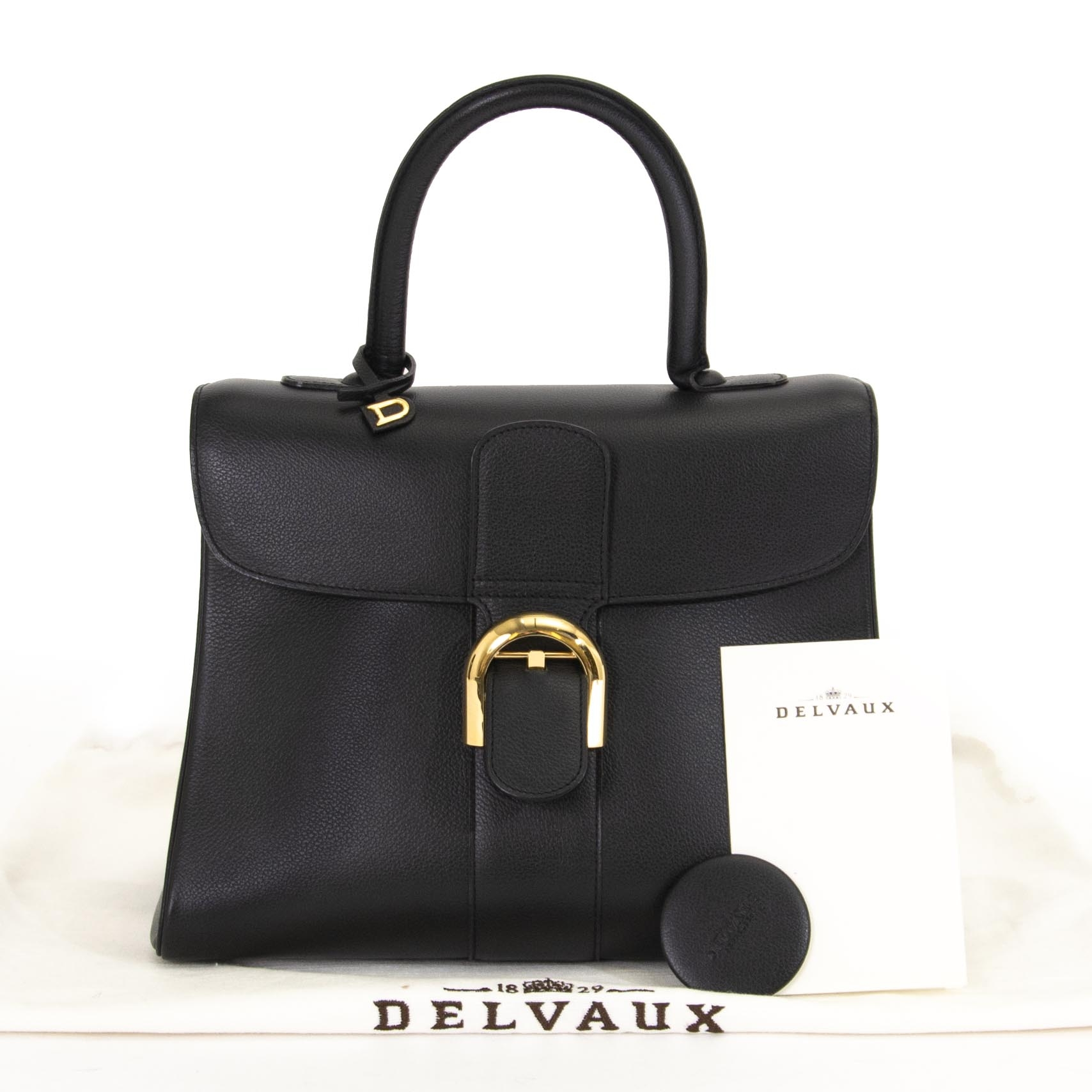 Delvaux Brillant MM Jumping Black in excellent preloved condition for sale. shop now