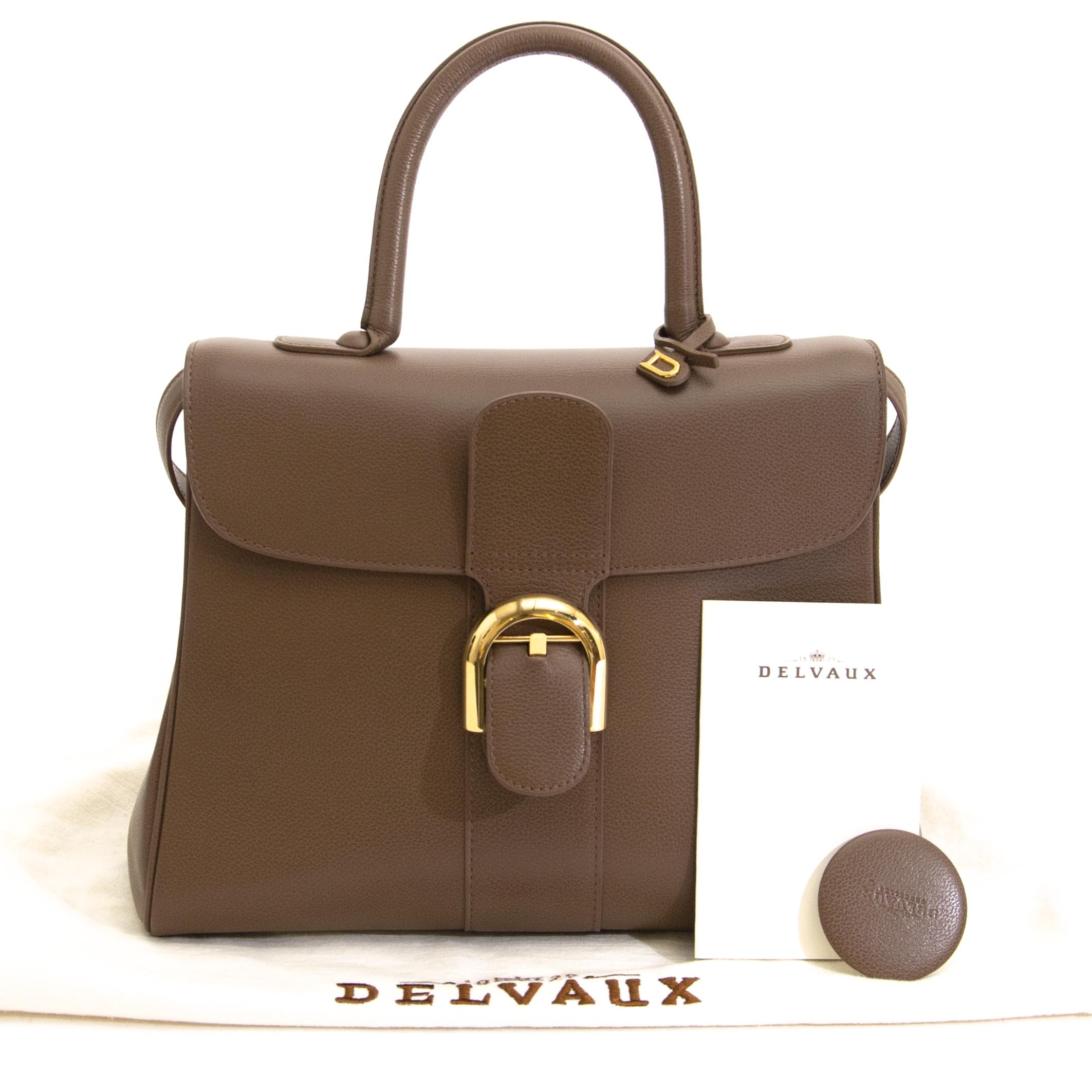 8312c65a67ce Delvaux Brillant MM Jumping Taupe for sale at Labellov secondhand luxury in  Antwerp Delvaux Brillant MM Jumping Taupe te koop bij Labellov tweedehands  luxe
