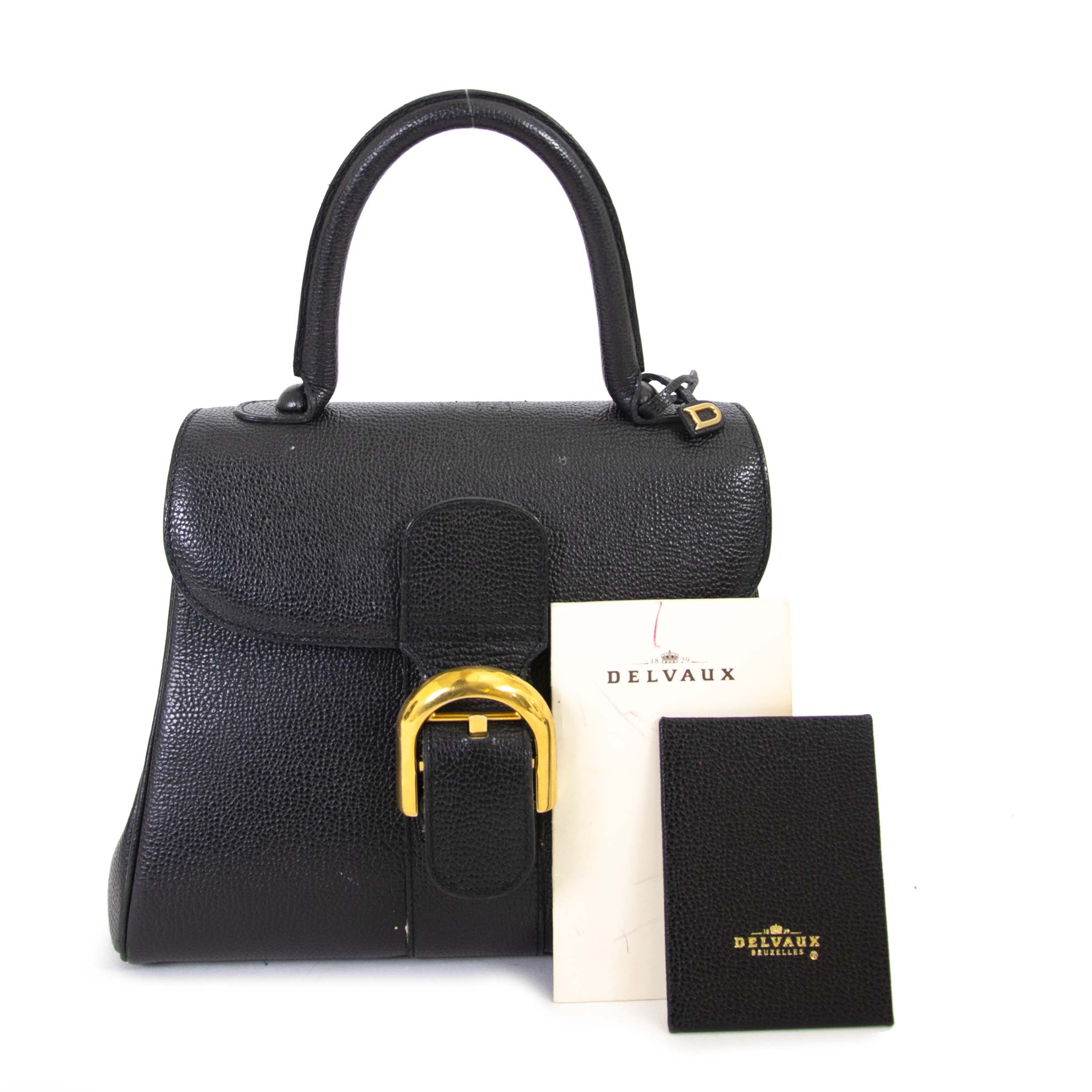 cd6371834a ... Delvaux Black Brillant PM Bag now for sale at labellov vintage fashion  webshop belgium