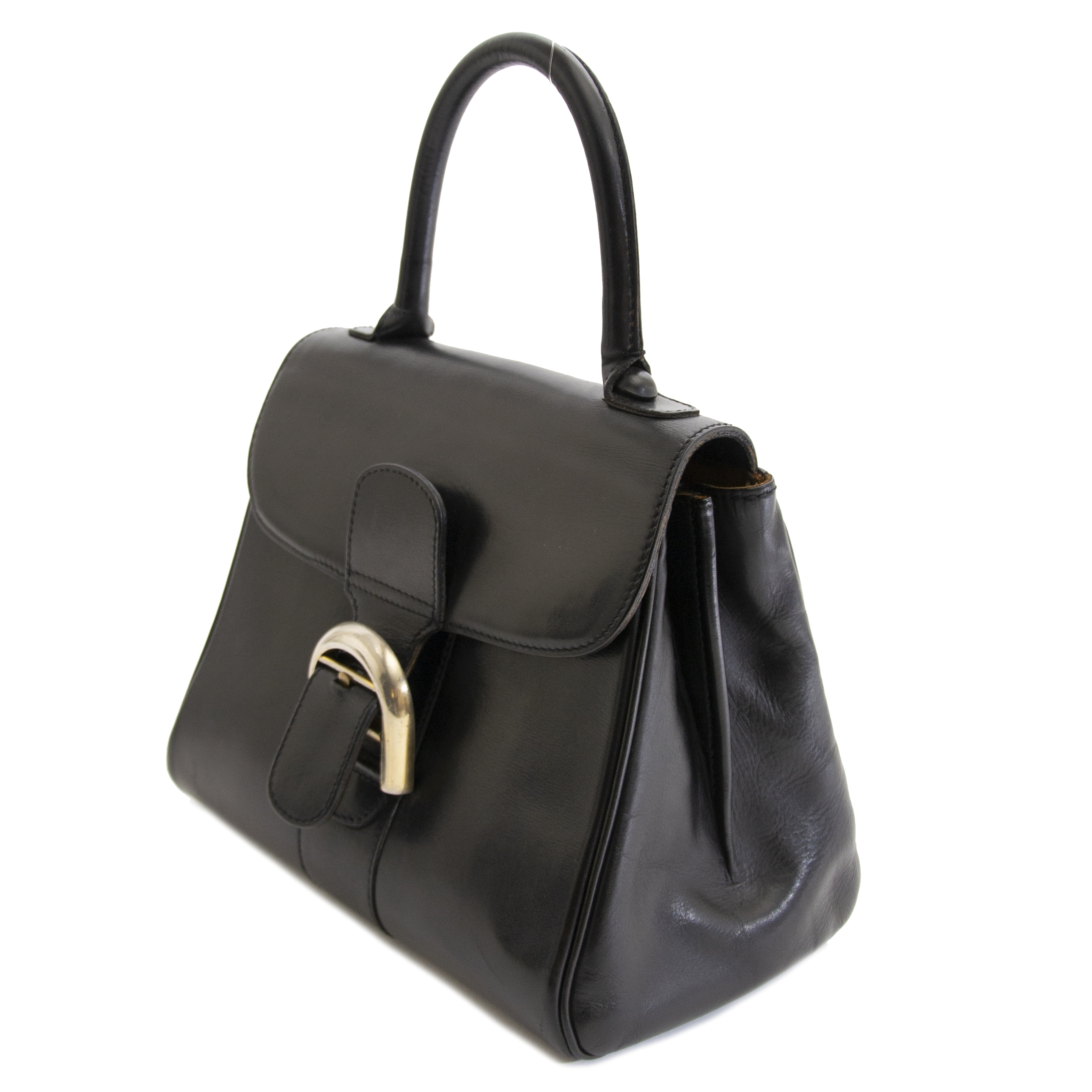 looking for a Delvaux Brillant PM Black Box Calf PHW? Now online at labellov.com for the best price