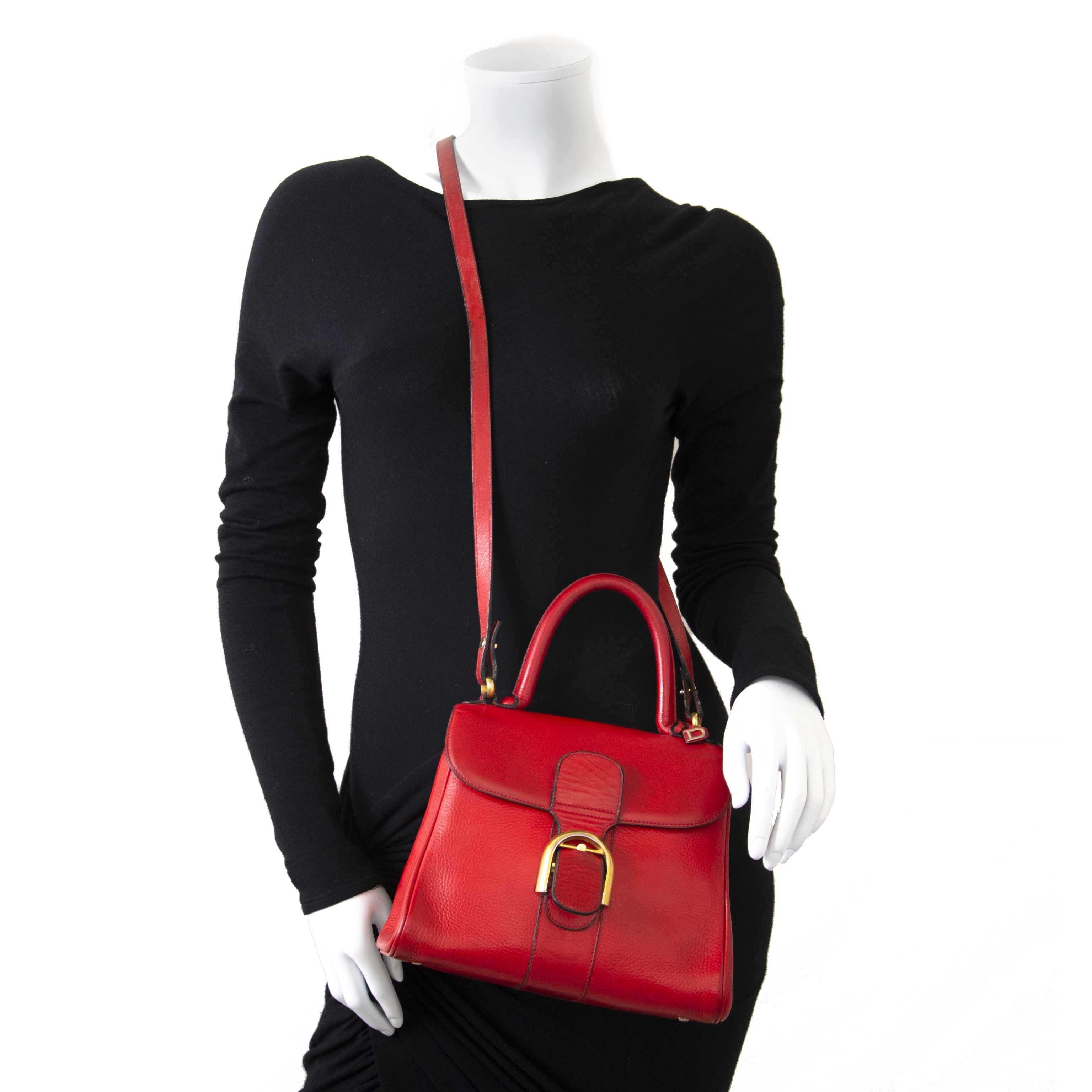 748adae24287 ... Delvaux Red Brillant PM Bag + Strap now for sale at labellov vintage  fashion webshop belgium