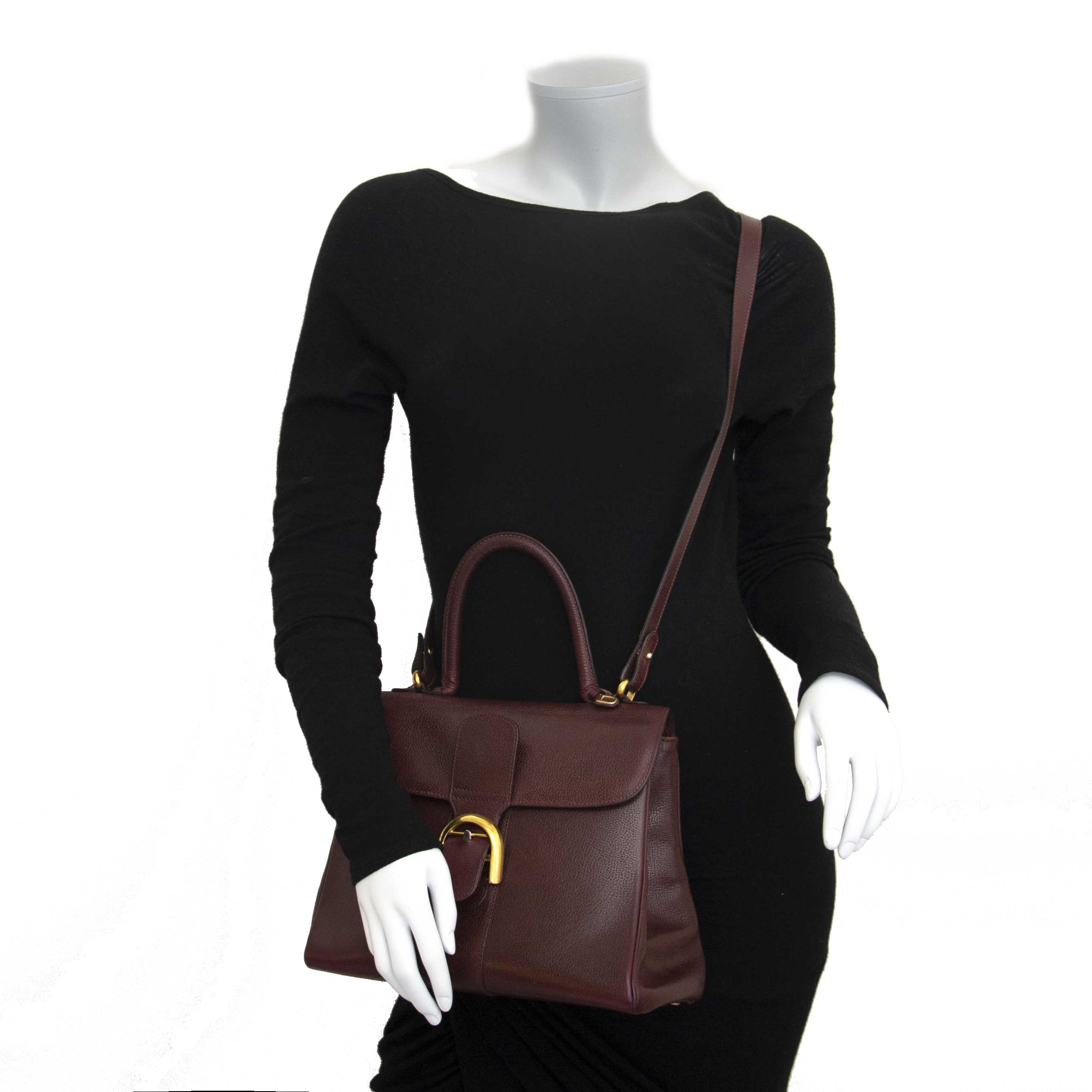 Delvaux Brillant Bordeaux MM GHW + Strap now for sale at labellov vintage fashion webshop belgium