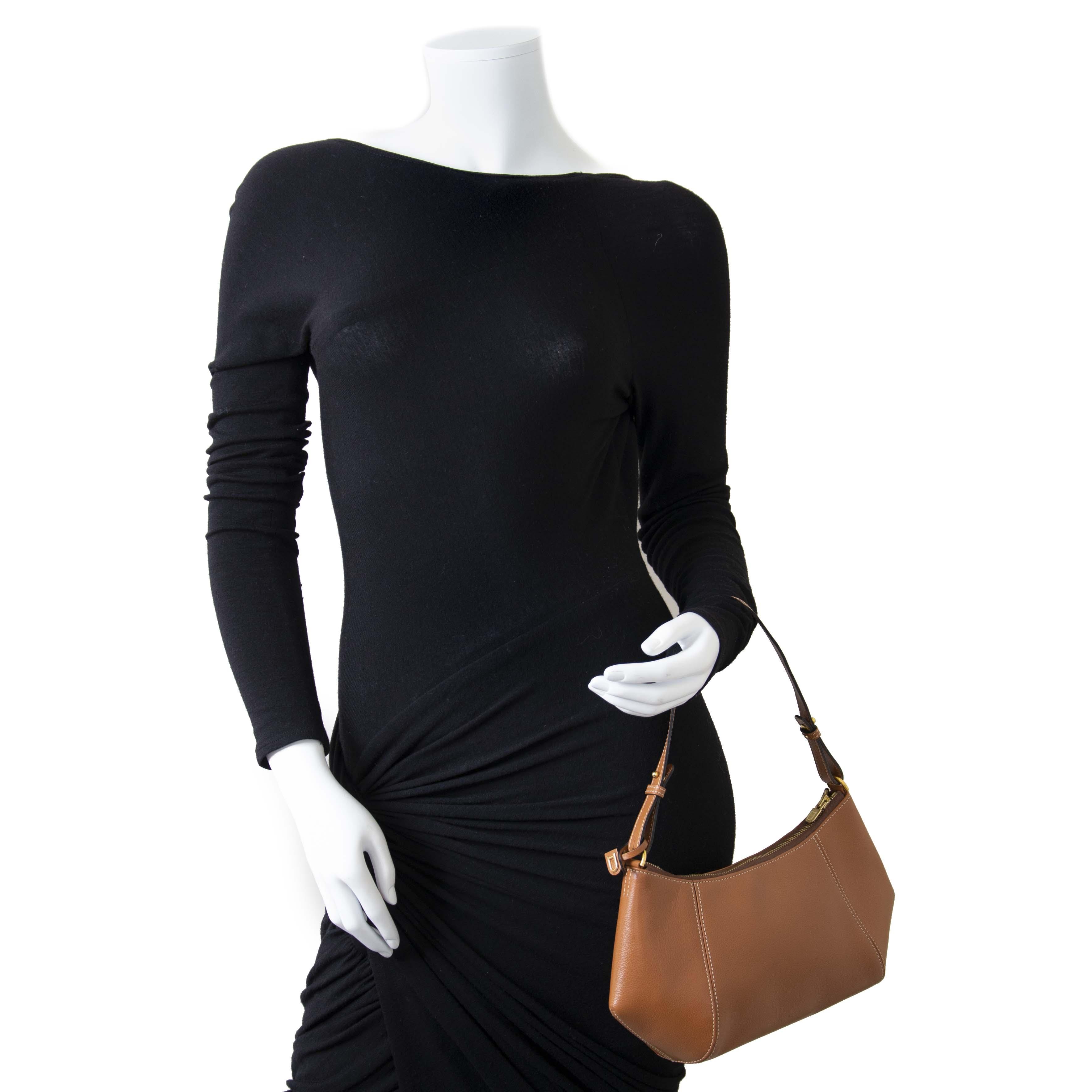 Delvaux Désir Cognac Leather Shoulder Bag now for sale at labellov vintage fashion webshop belgium