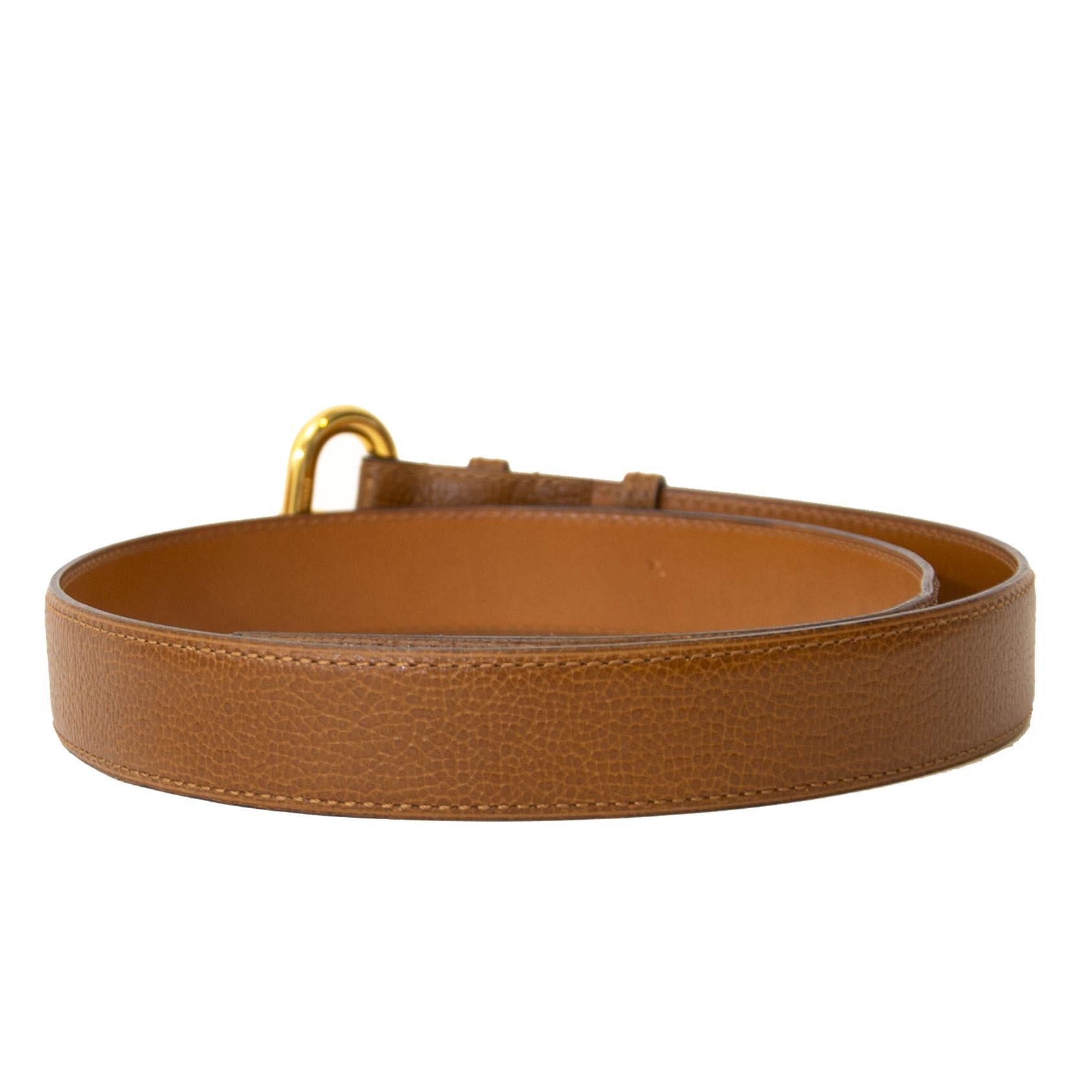 Delvaux Camel Belt - size 80