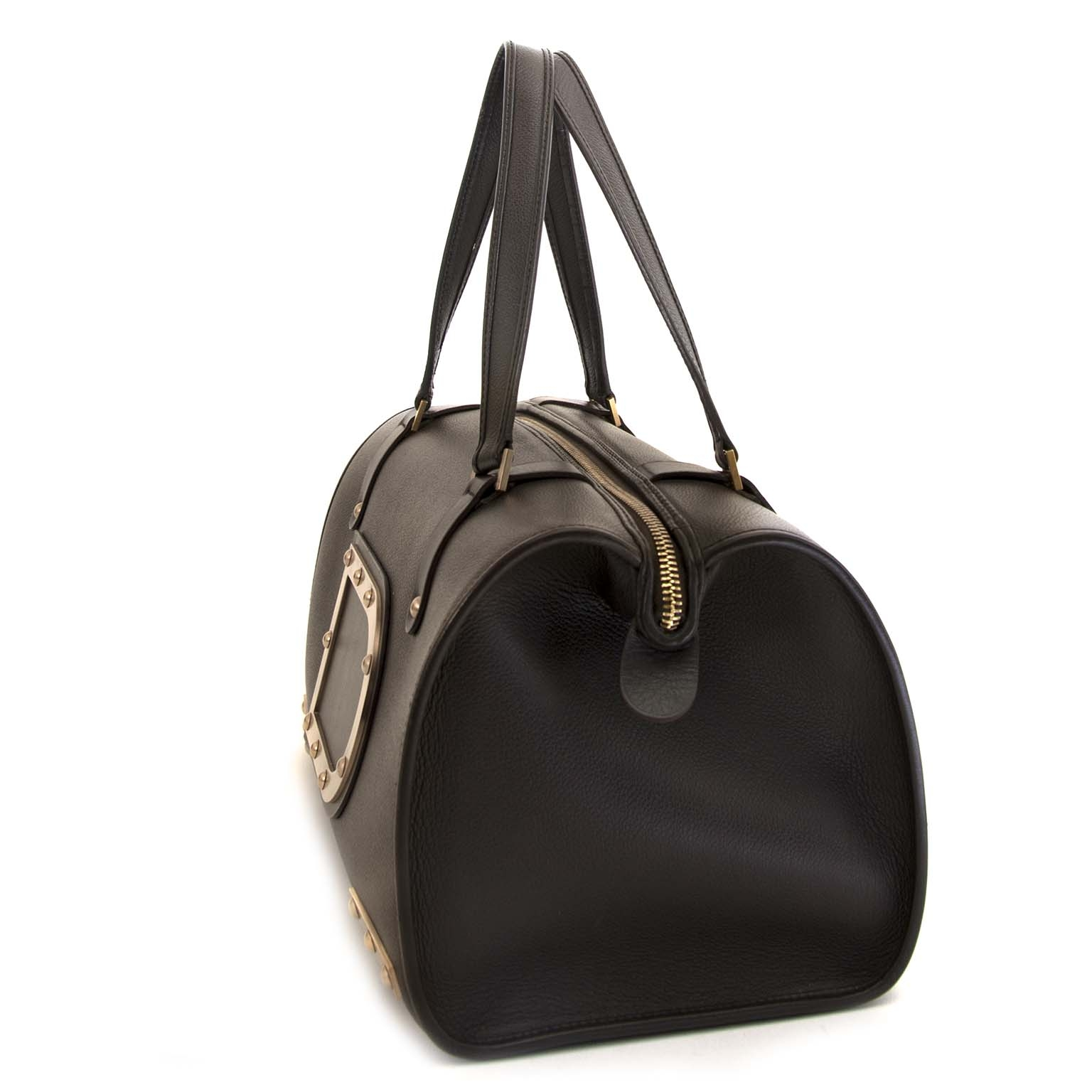 2383bd0024 ... authentic Delvaux Brown Leather Louise Boston now for sale at labellov  antwerp for the best price