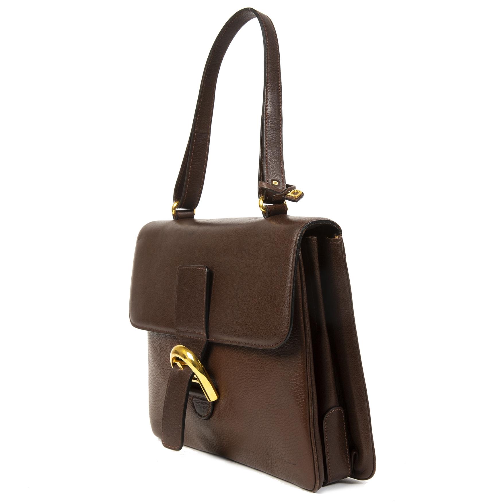 koop veilig online tegen de beste prijs Delvaux Brillant Brown Shoulder Bag