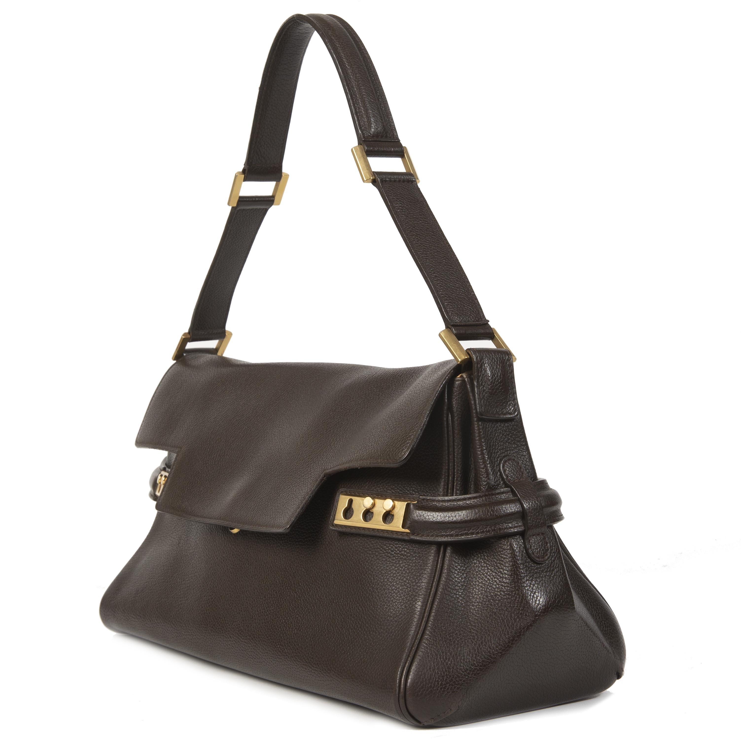 Delvaux Tempete MM Dark Brown