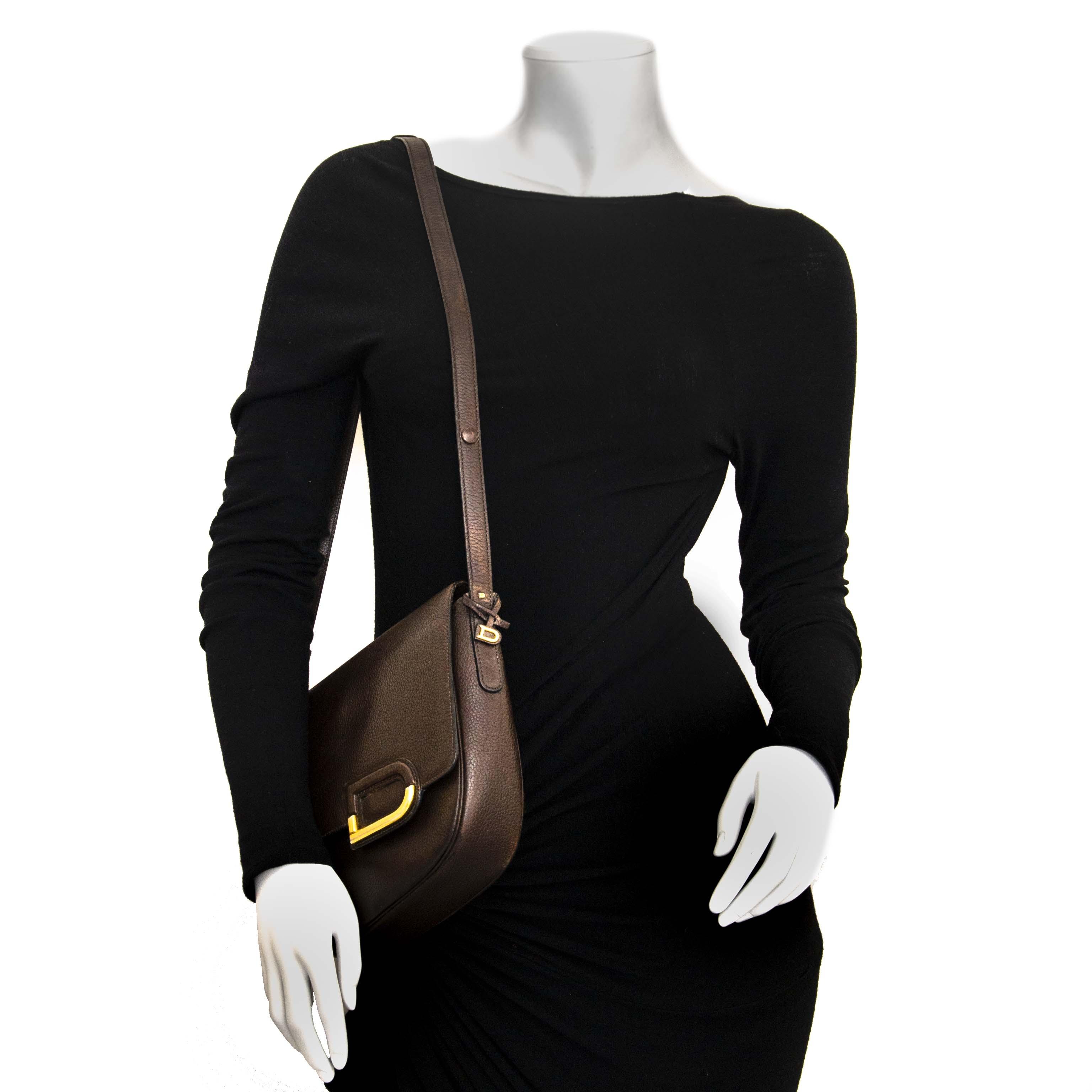 Delvaux Brown Logo Crossbody Bag te koop aan de beste prijs bij Labellov