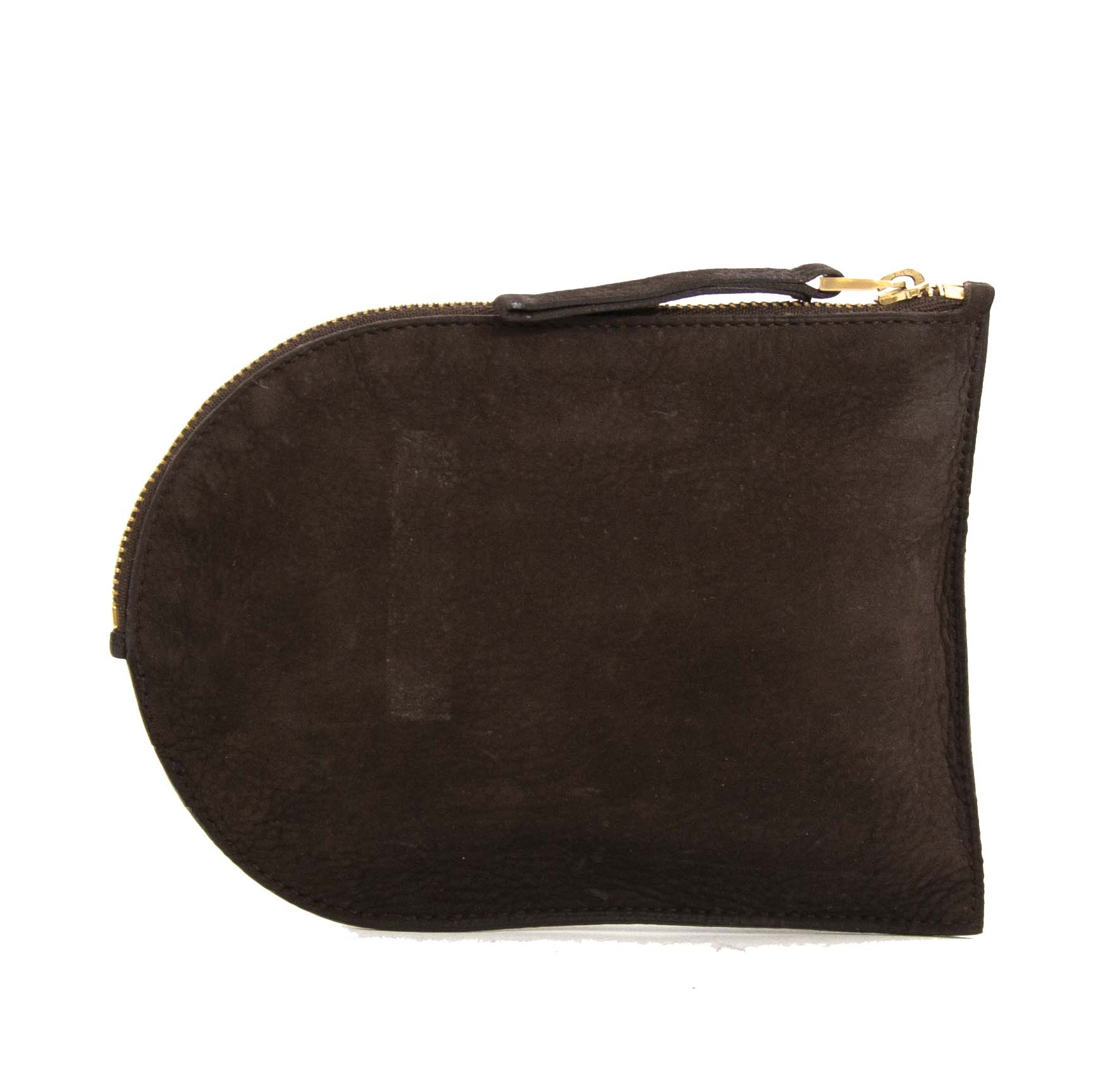 delvaux suede brown d pouch now for sale at labellov vintage fashion webshop belgium