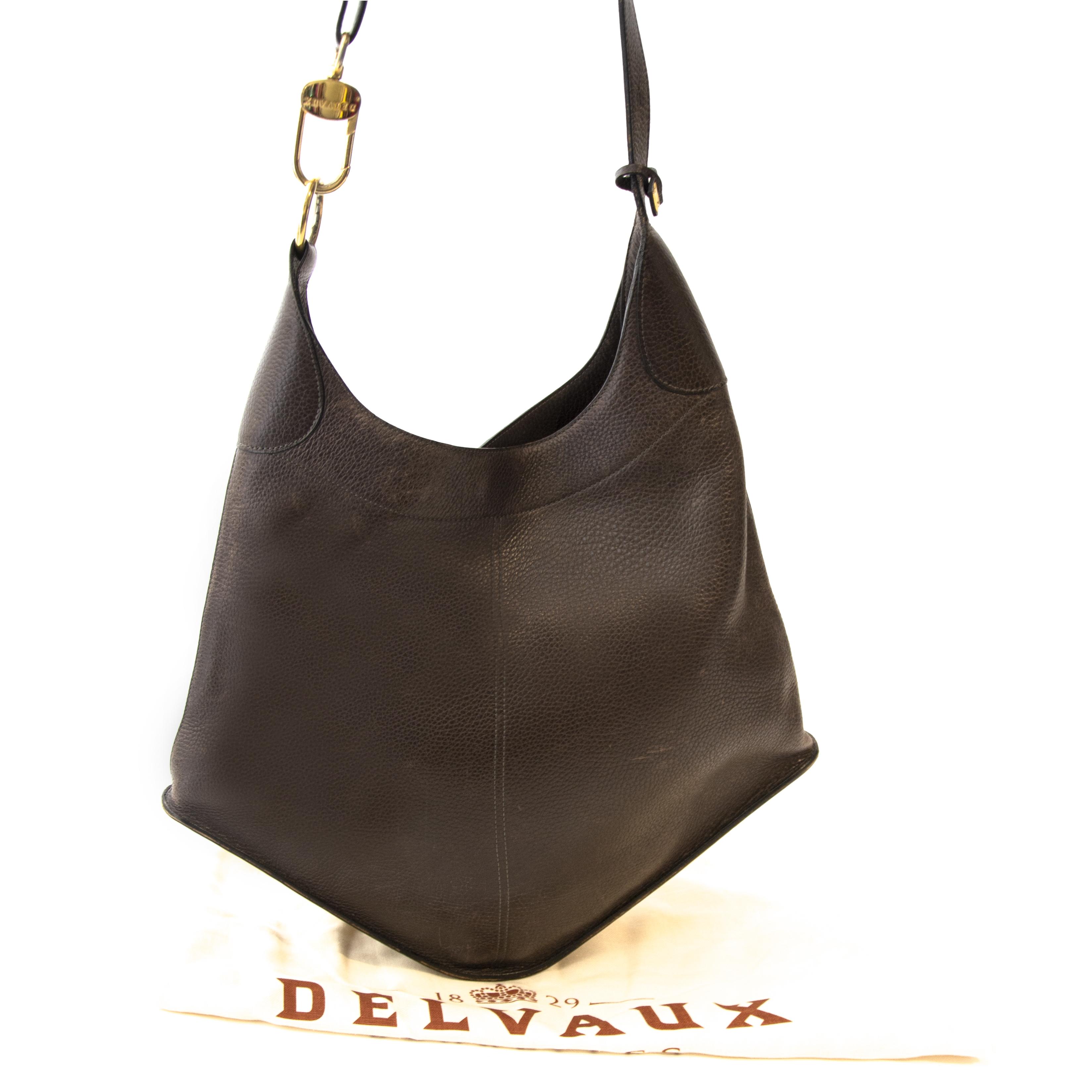 shop online tegen de beste prijs Delvaux Brown Satan Shoulder Bag