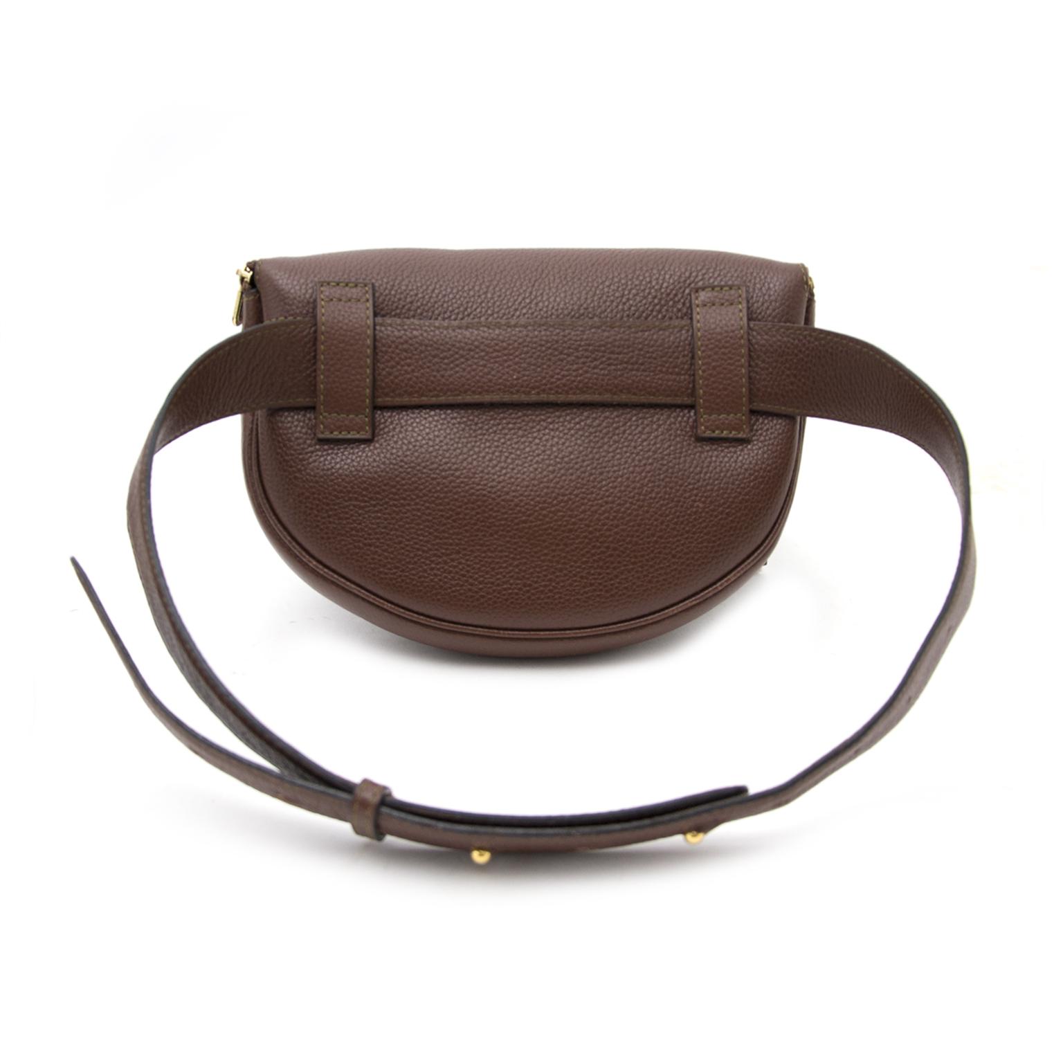 shop veilig online aan de beste prijs Delvaux Chocolat Brown Hip Bag