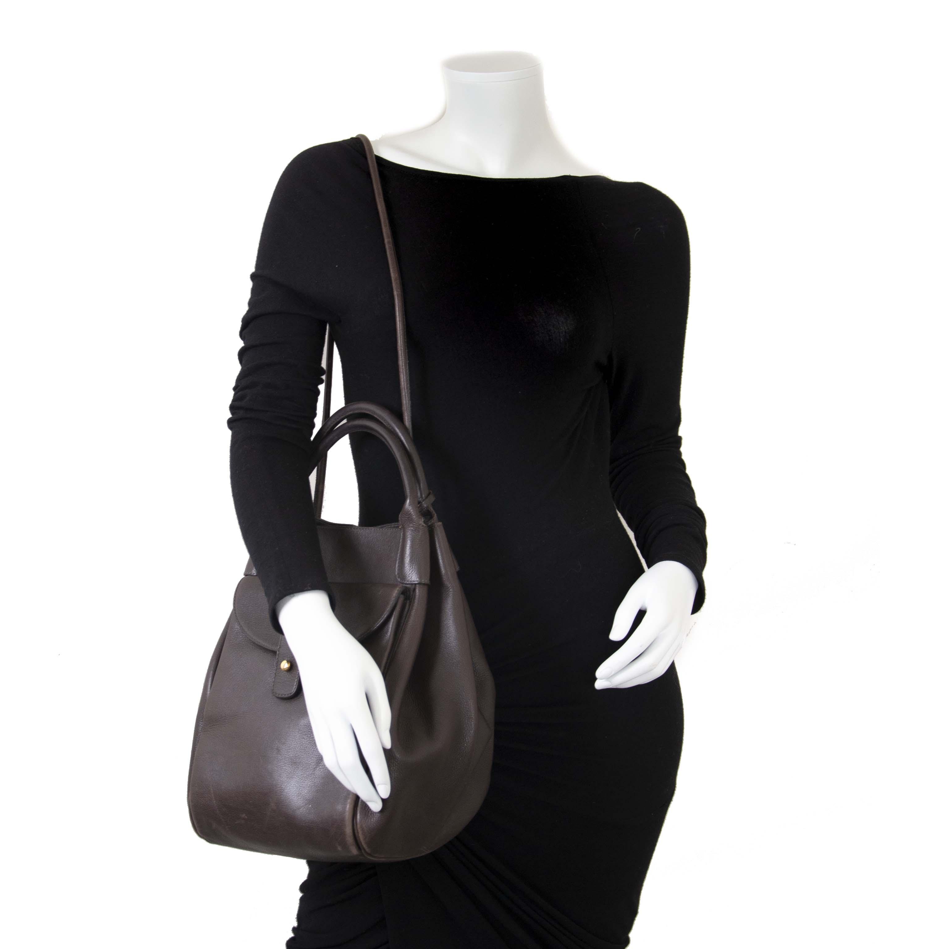 7fa9af2450780 ... Delvaux Corail GM Brown Leather Bag now for sale at labellov vintage  fashion webshop belgium