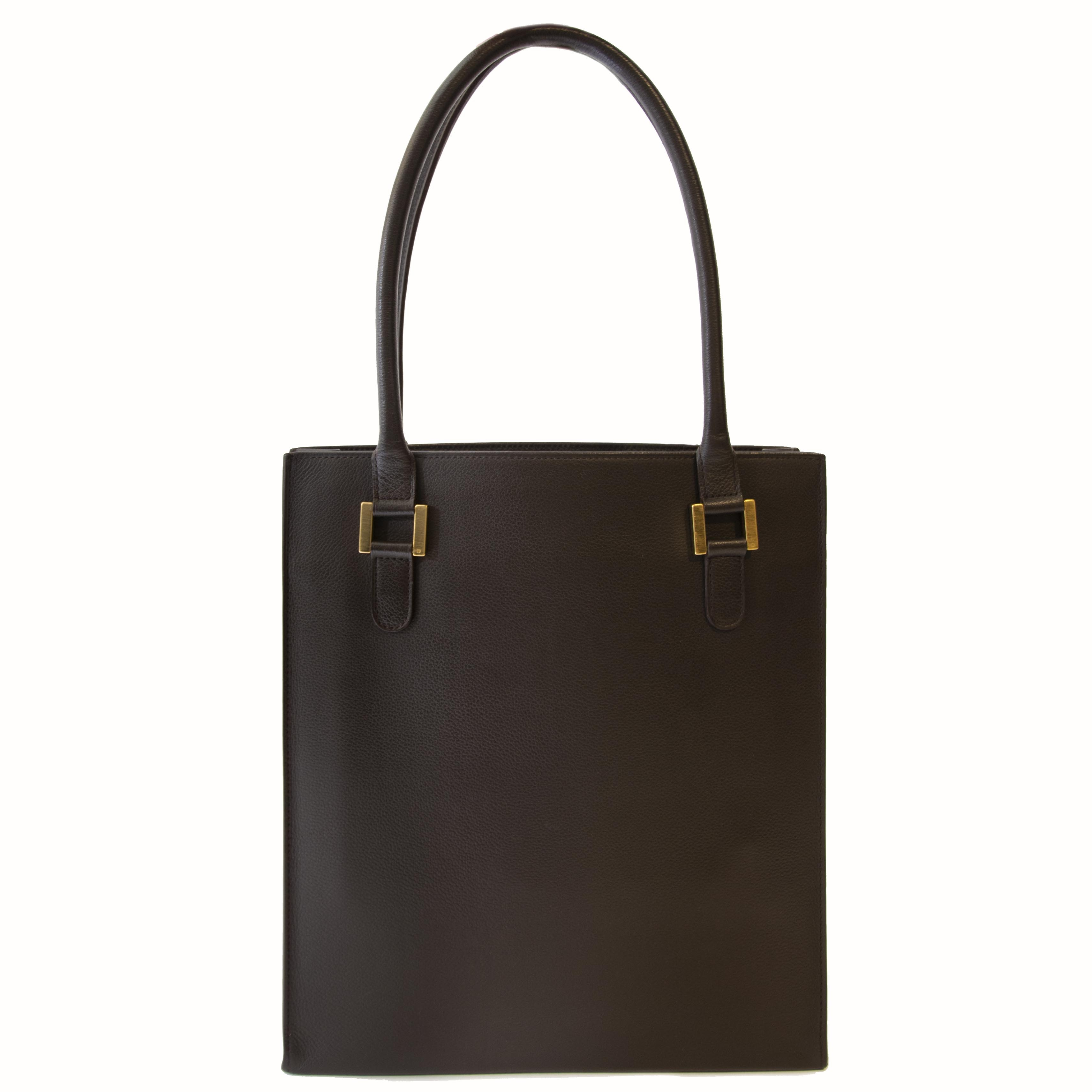 Authentic second hand Delvaux Jeff brown leather right price safe online shopping LabelLOV webshop luxury brands shopping Antwerp