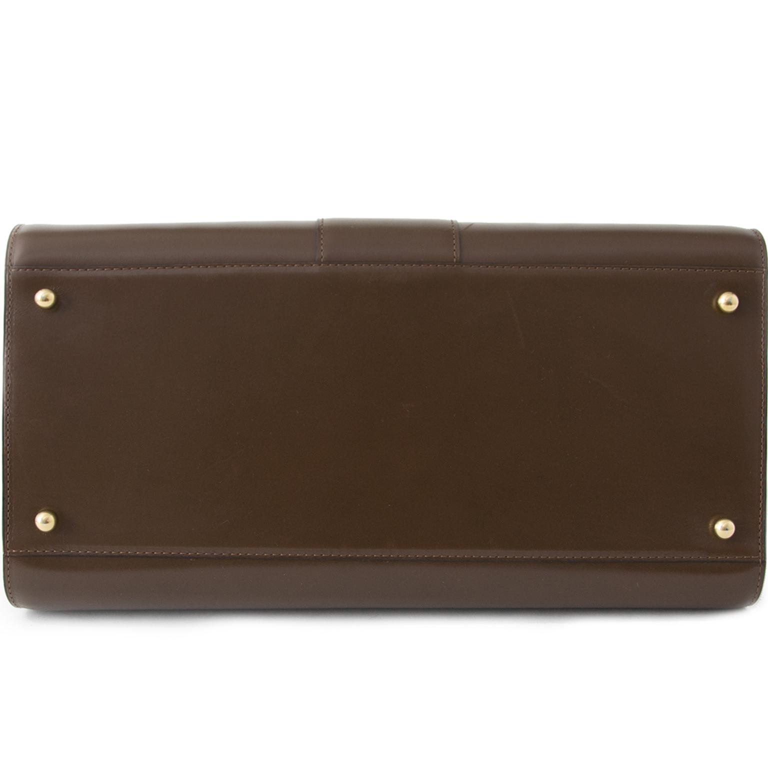 acheter en ligne pour le meilleur prix sac a main Delvaux Noisette Brillant GM  comme neuf site en ligne labellov.com