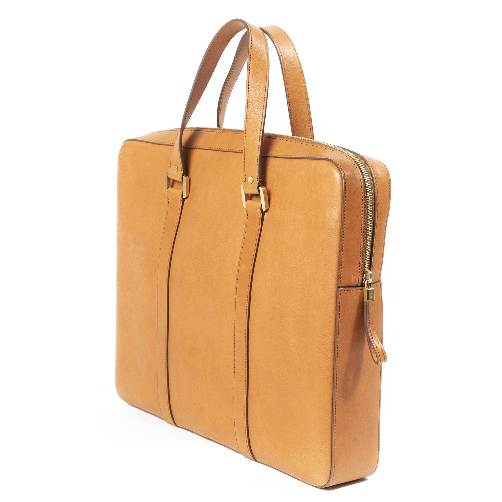 Delvaux Mens Vachetta Leather Briefcase kopen en verkopen