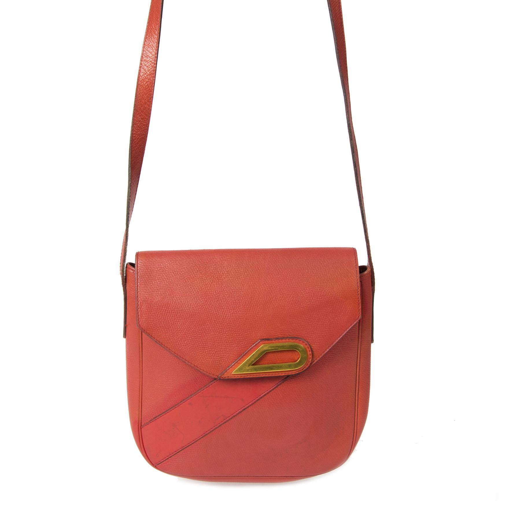 Authentieke tweedehands Delvaux Coral Crossbody Bag juiste prijs veilig online winkelen LabelLOV webshop luxe merken winkelen Antwerpen België mode fashion