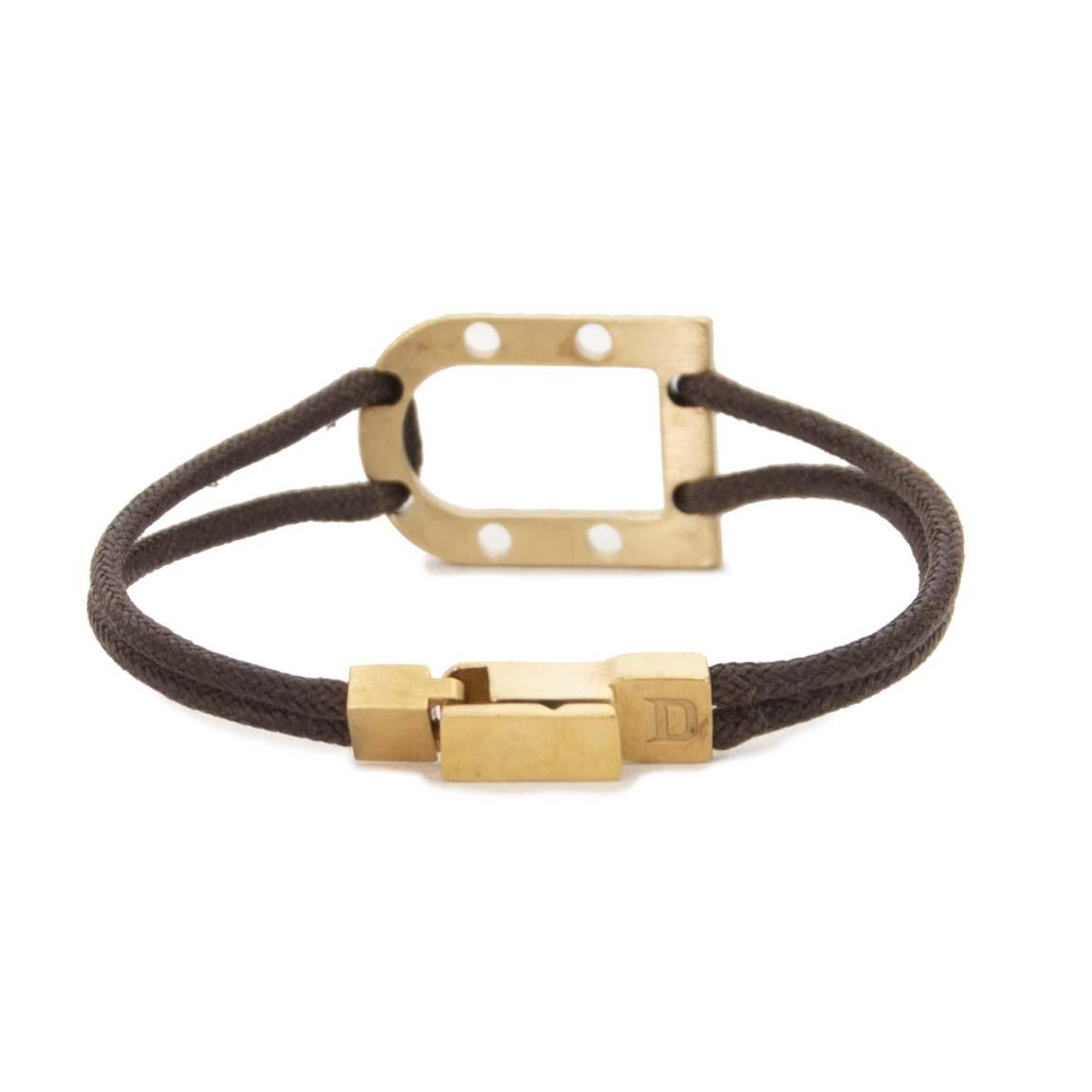 shop safe online Delvaux Brown And Matt Gold D Bracelet