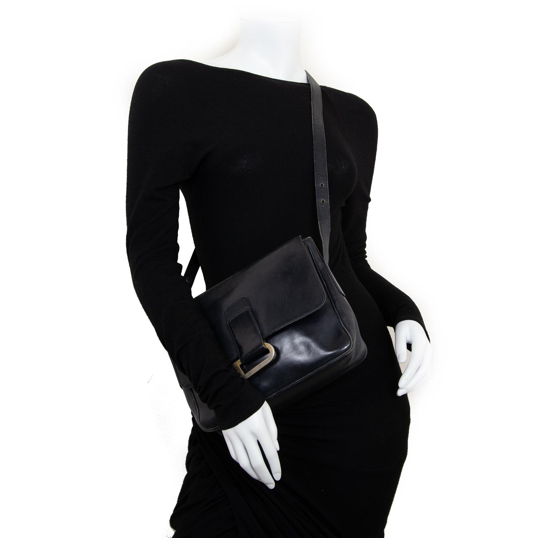 delvaux dark blue leather shoulder bag now for sale at labellov vintage fashion webshop belgium