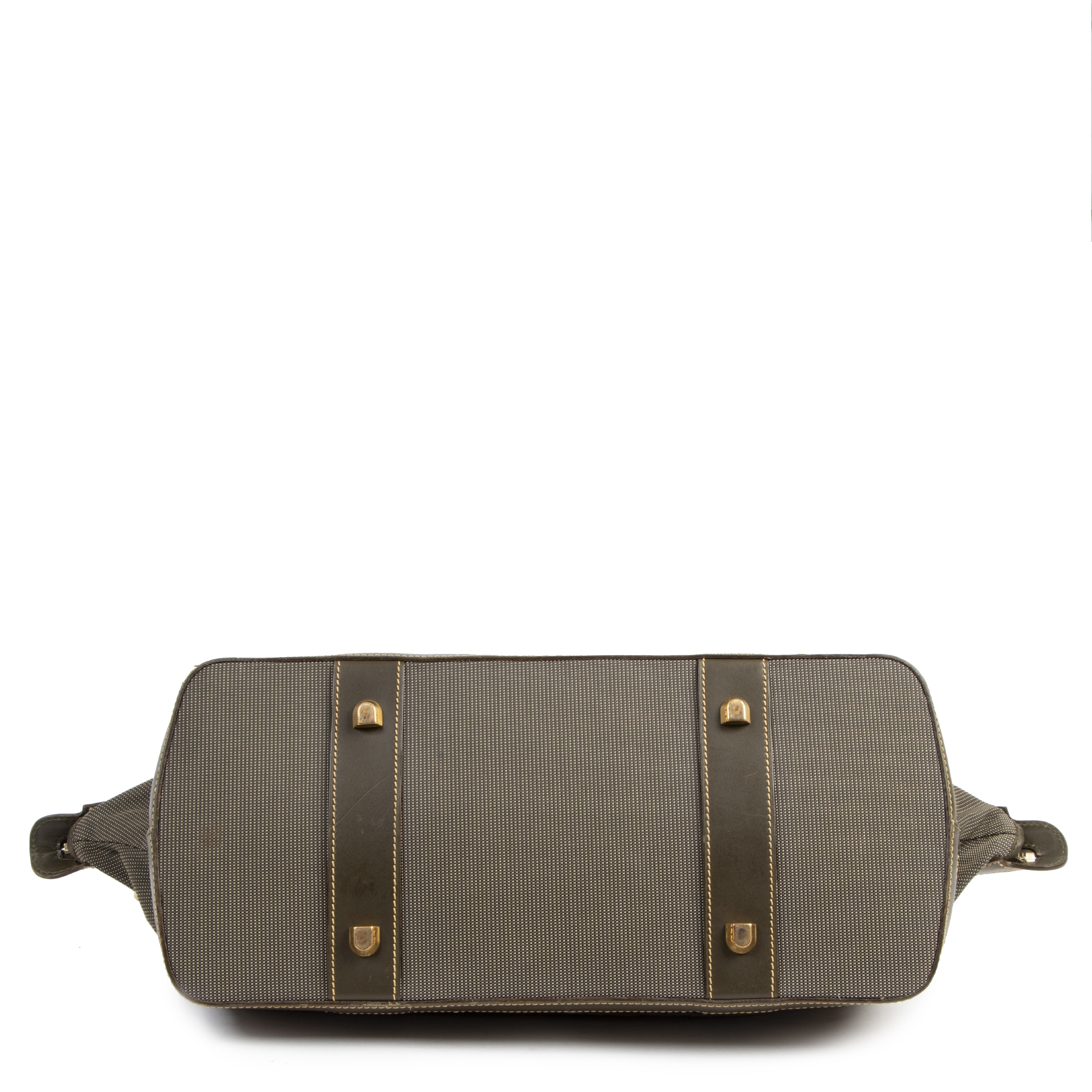 Authentique seconde-main vintage Delvaux Green Leather Medium Luggage achète en ligne webshop LabelLOV