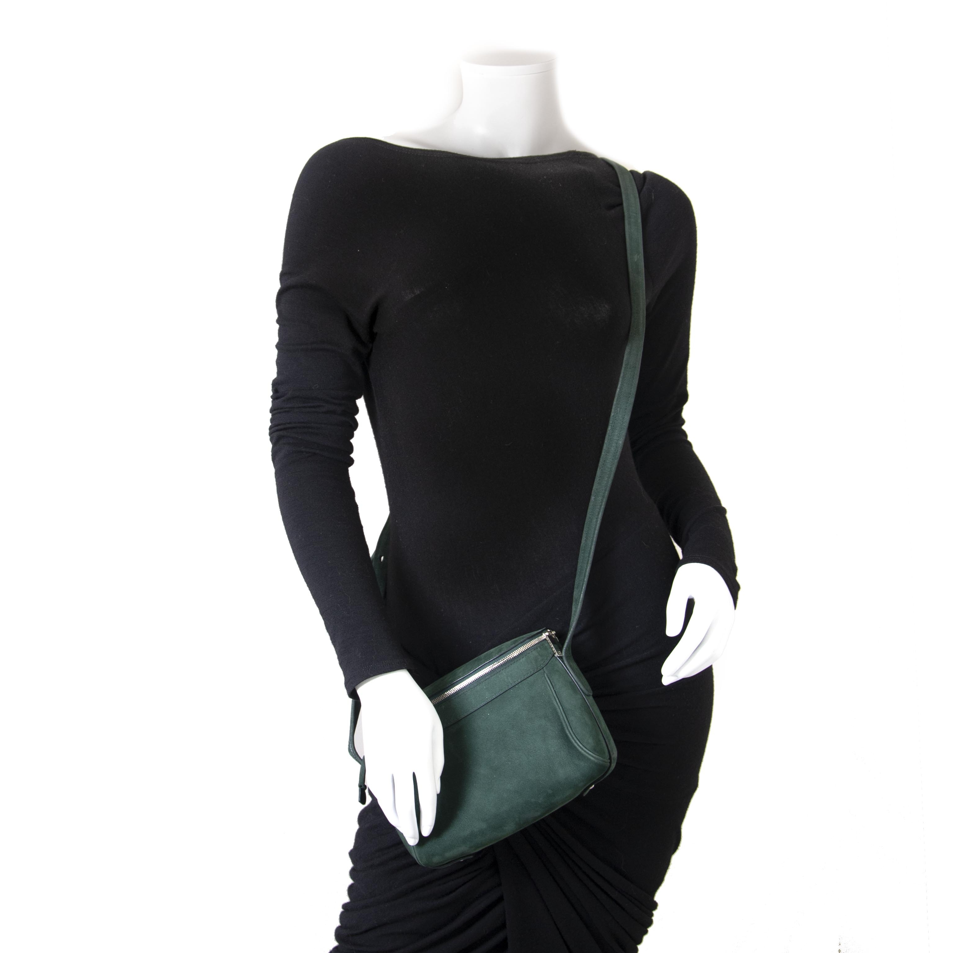 Are you looking for an authentic Delvaux Green Nubuck Shoulder Bag?