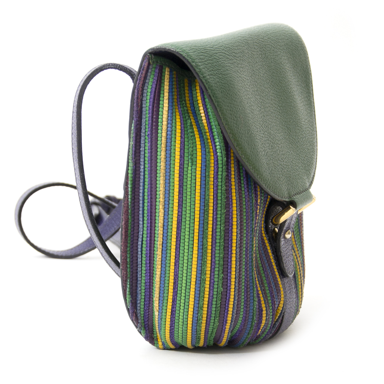 76d2045750d4 ... buy safe online secondhand designer Delvaux Toile de Cuir Green  Crossbody Pouch