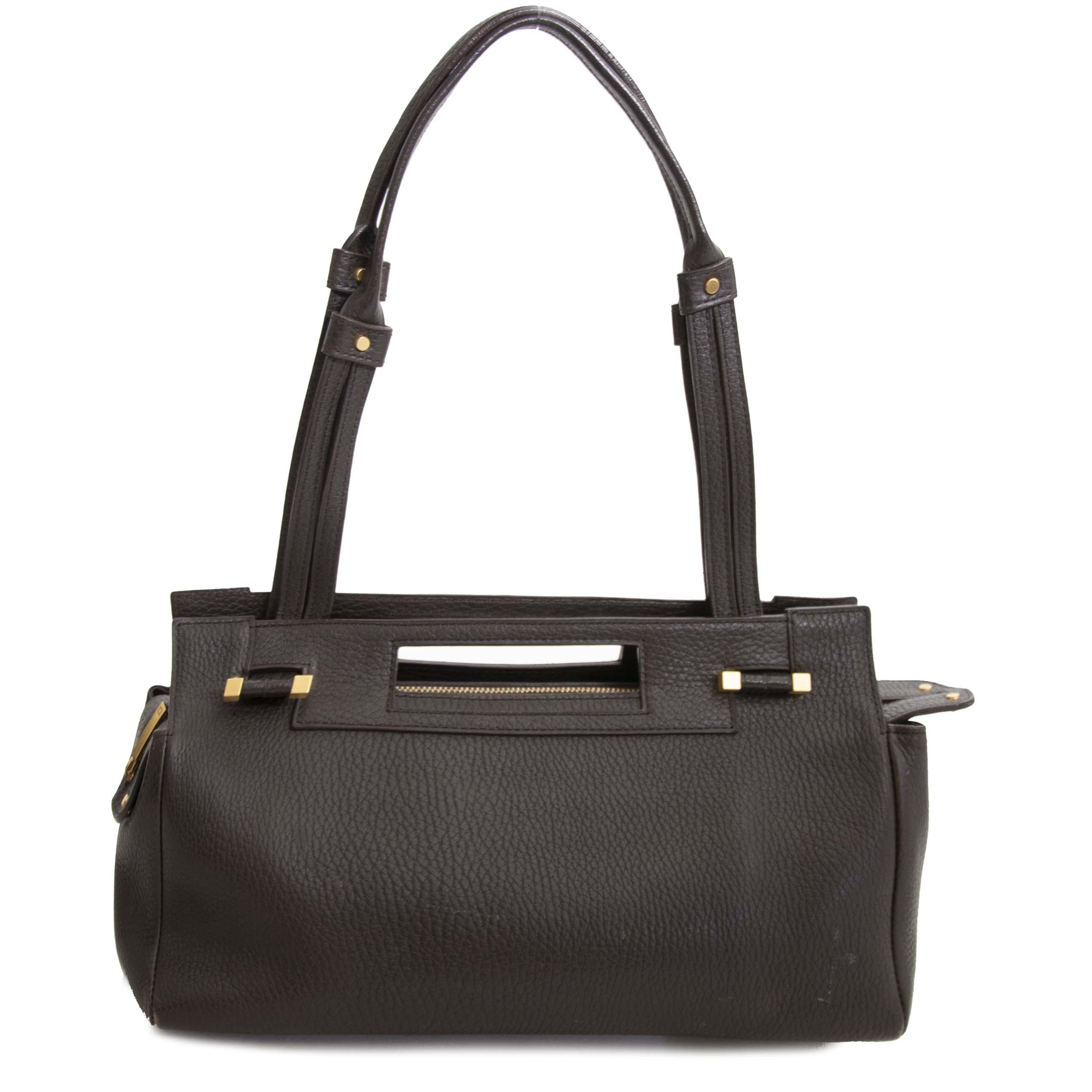 2183922564a45 ... Buy authentic second hand vintage Delvaux Le Benjamin Café Shoulder Bag  at online webshop LabelLOV