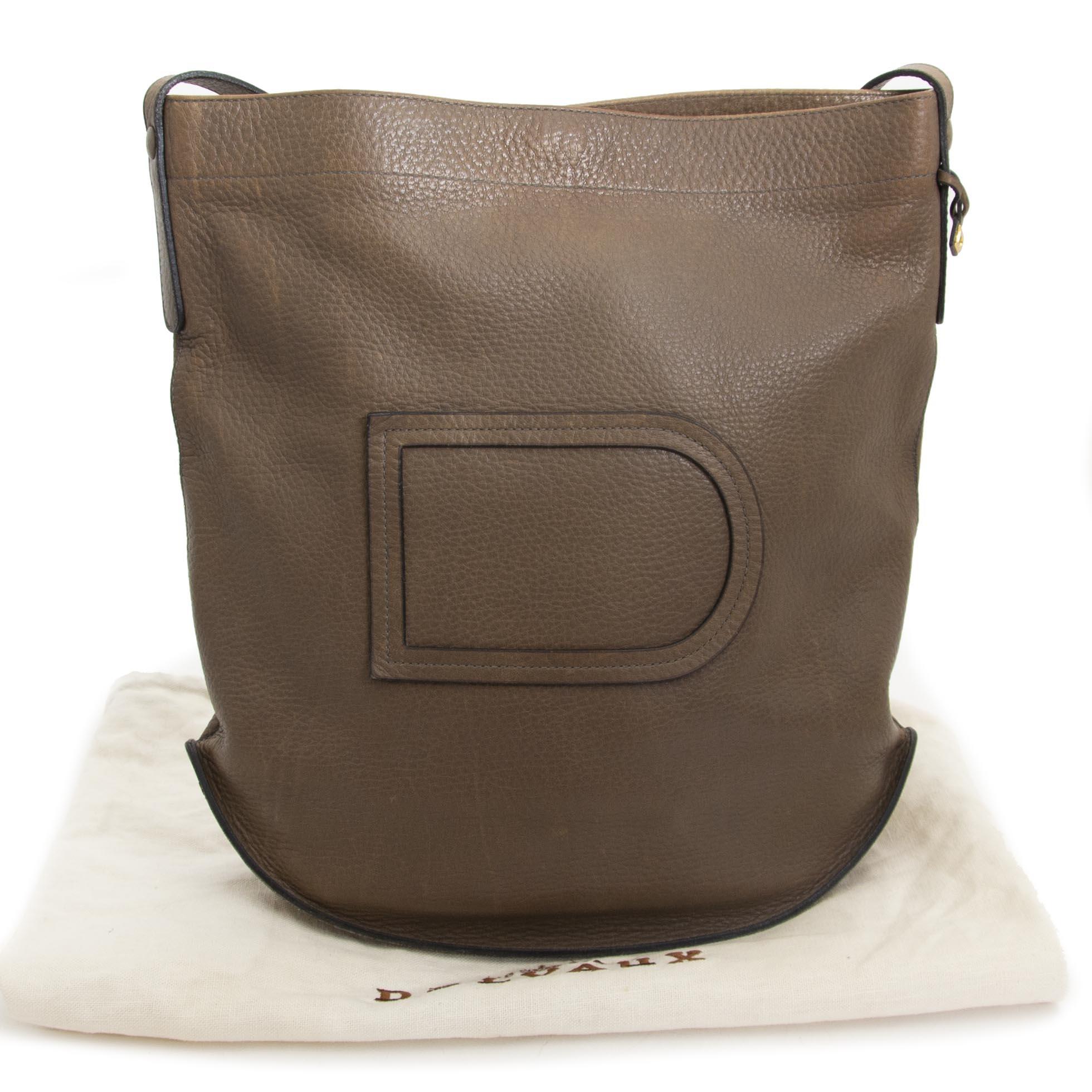 skip the waiting list shop safe online you secondhand Delvaux Taupe Le Pin Shoulder BAG