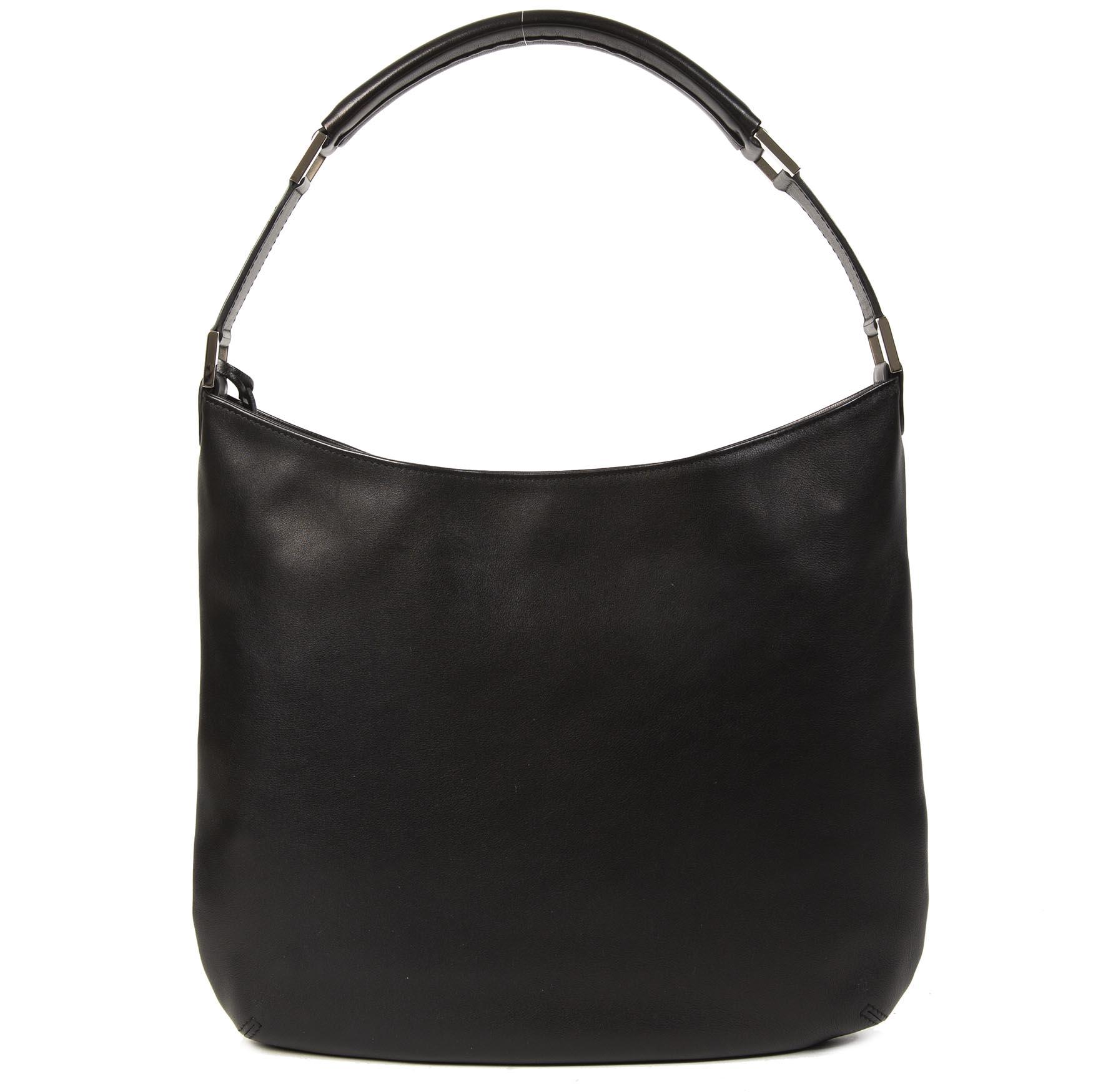 Authentieke tweedehands Delvaux D Louise PM Polo Black Bag juiste prijs veilig online winkelen LabelLOV webshop luxe merken winkelen Antwerpen België mode fashion