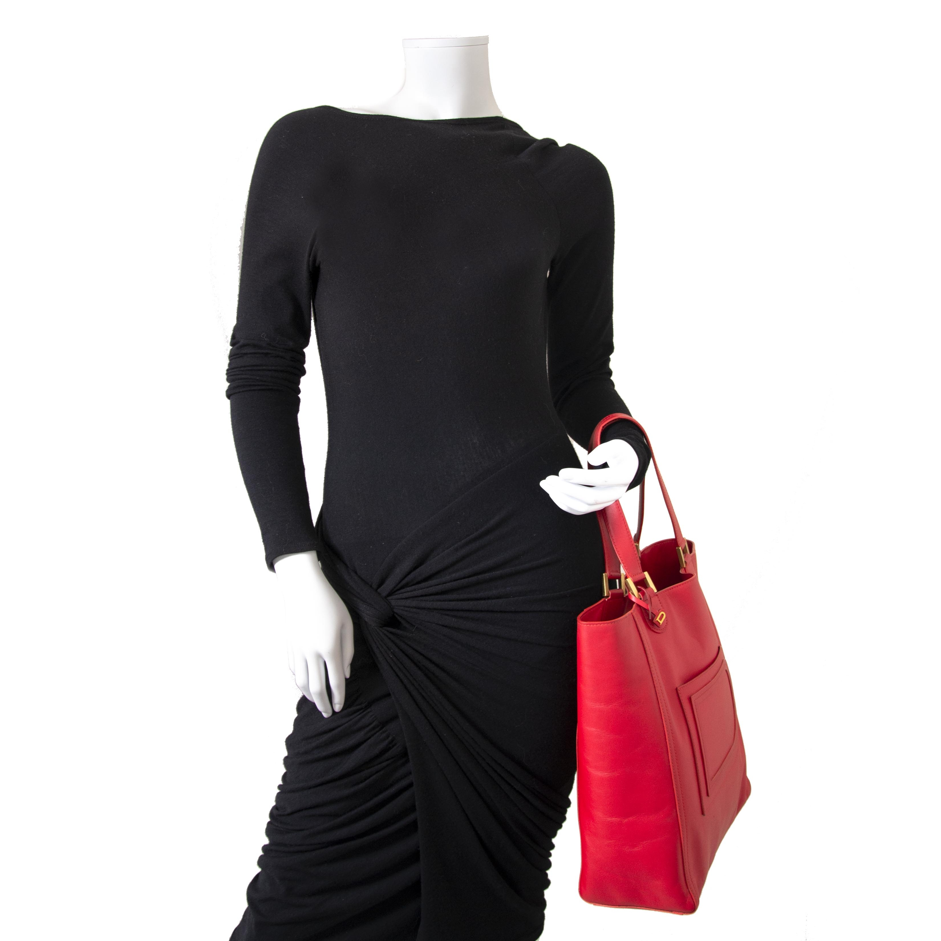 Delvaux Louise Tote Cadence Rouge for sale for the best price at labellov luxury