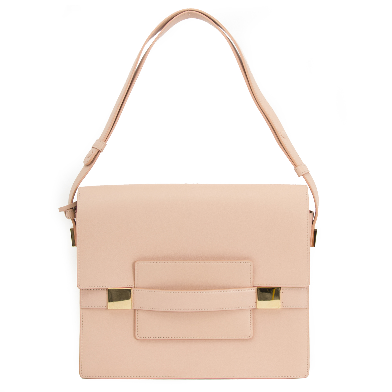 Delvaux Madame GM Rose Polo Shoulder Bag for sale online at Labellov