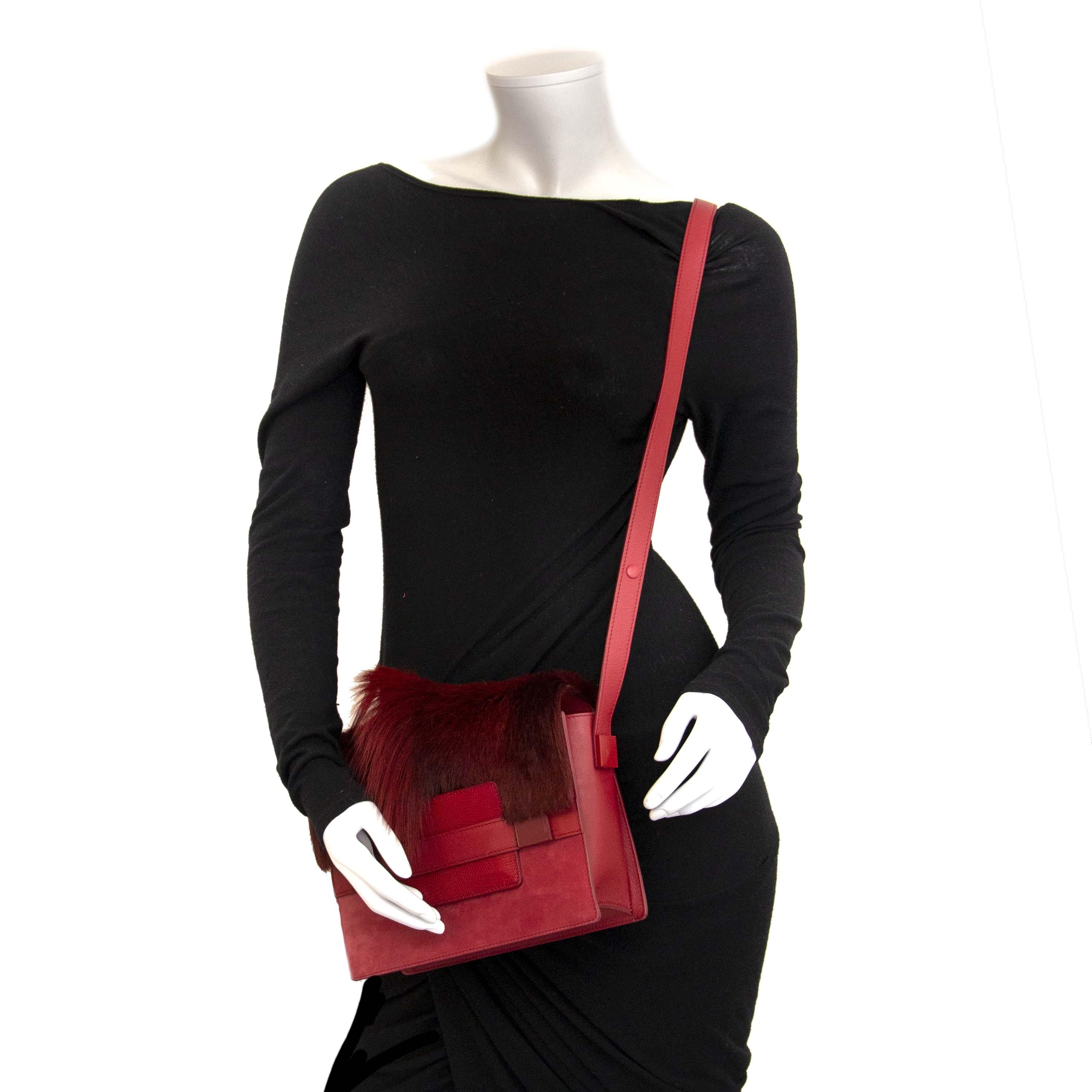 Authentieke tweedehands vintage Delvaux Madame Springbok Crossbody Bag koop online bij LabelLOV