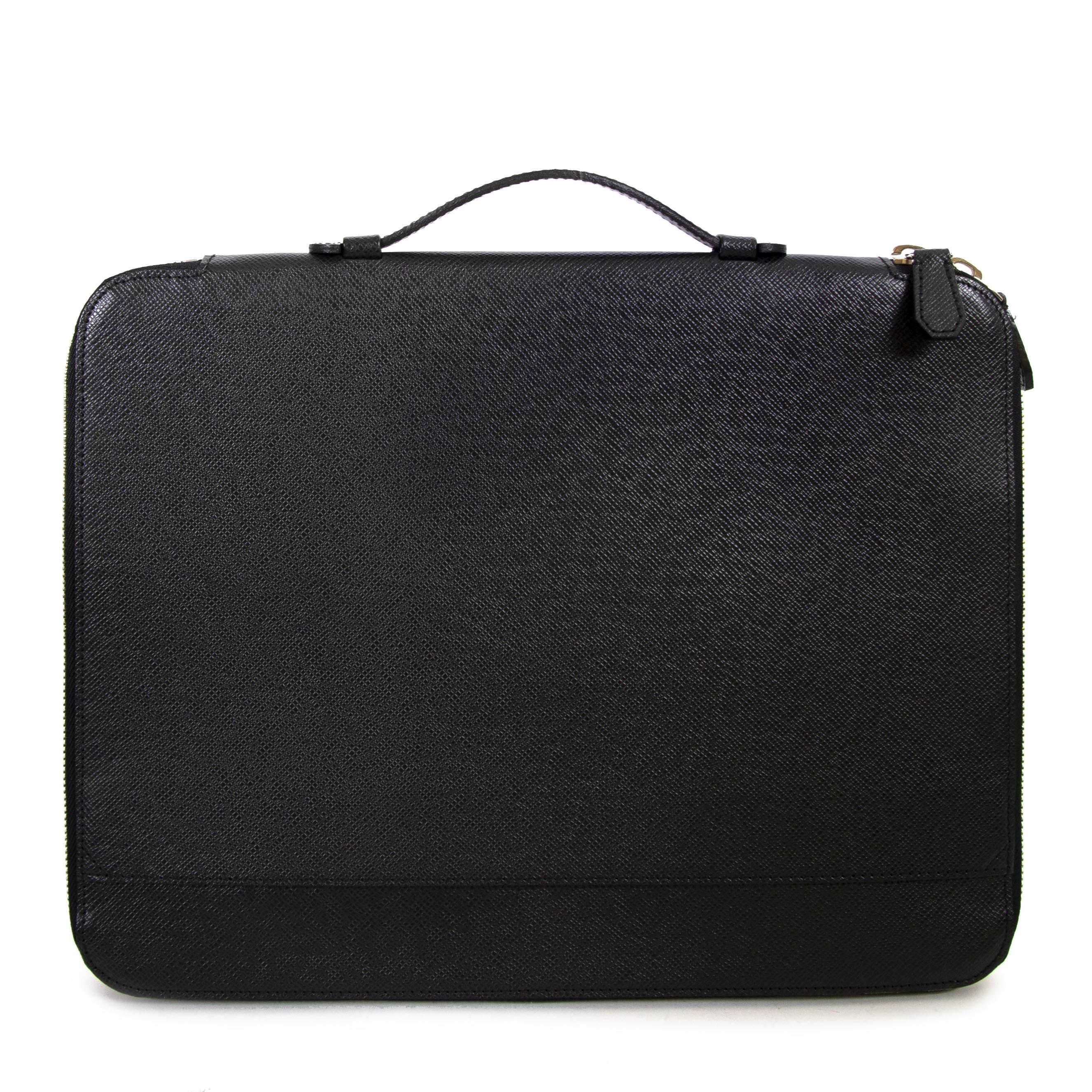 koop Louis Vuitton Black Vladimir Aroise Briefcase en betaal veilig online