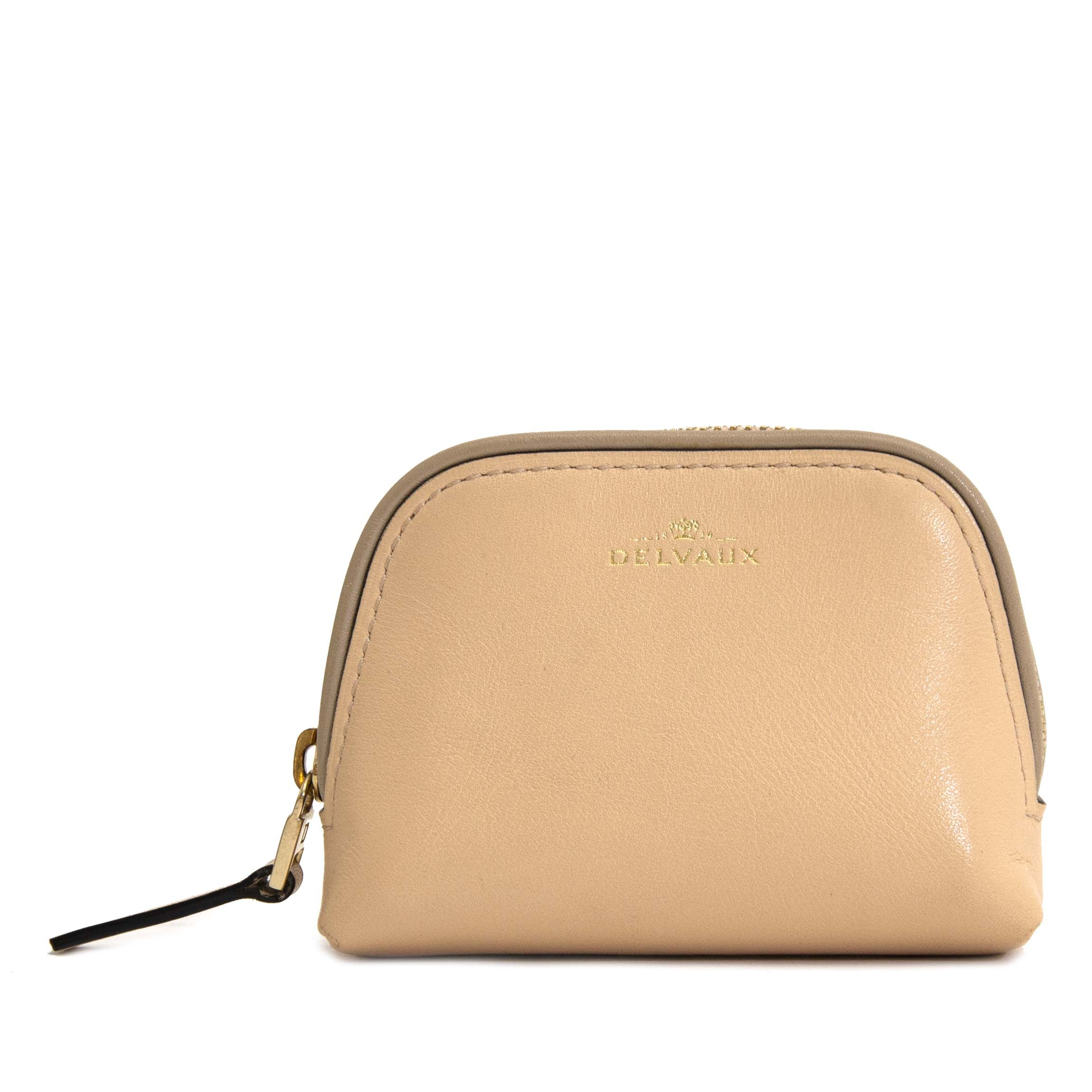 second hand Delvaux Beige Coin Pouch now online for the best price at labellov.com