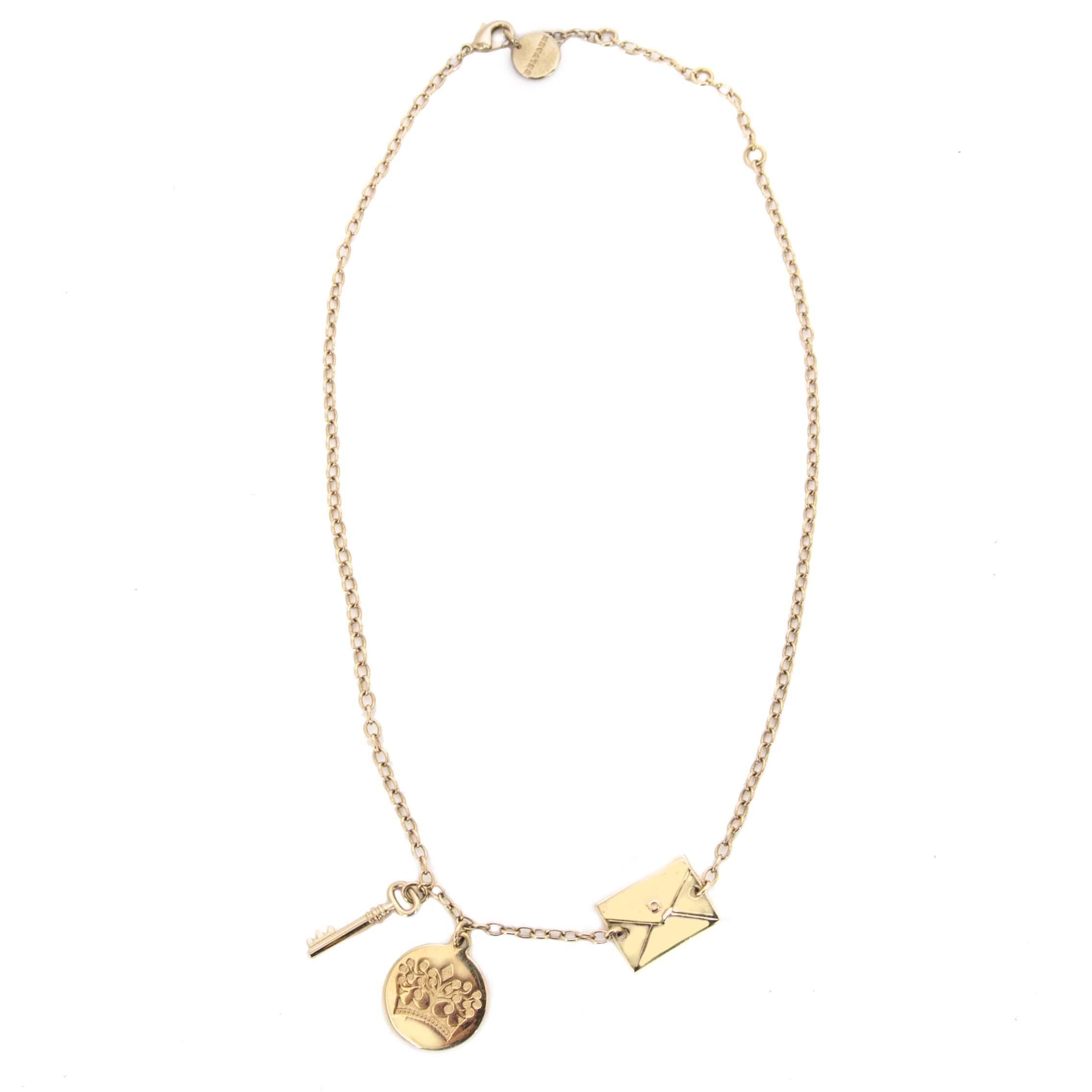 Bent u op zoek naar een authentieke Delvaux Charm Necklace?