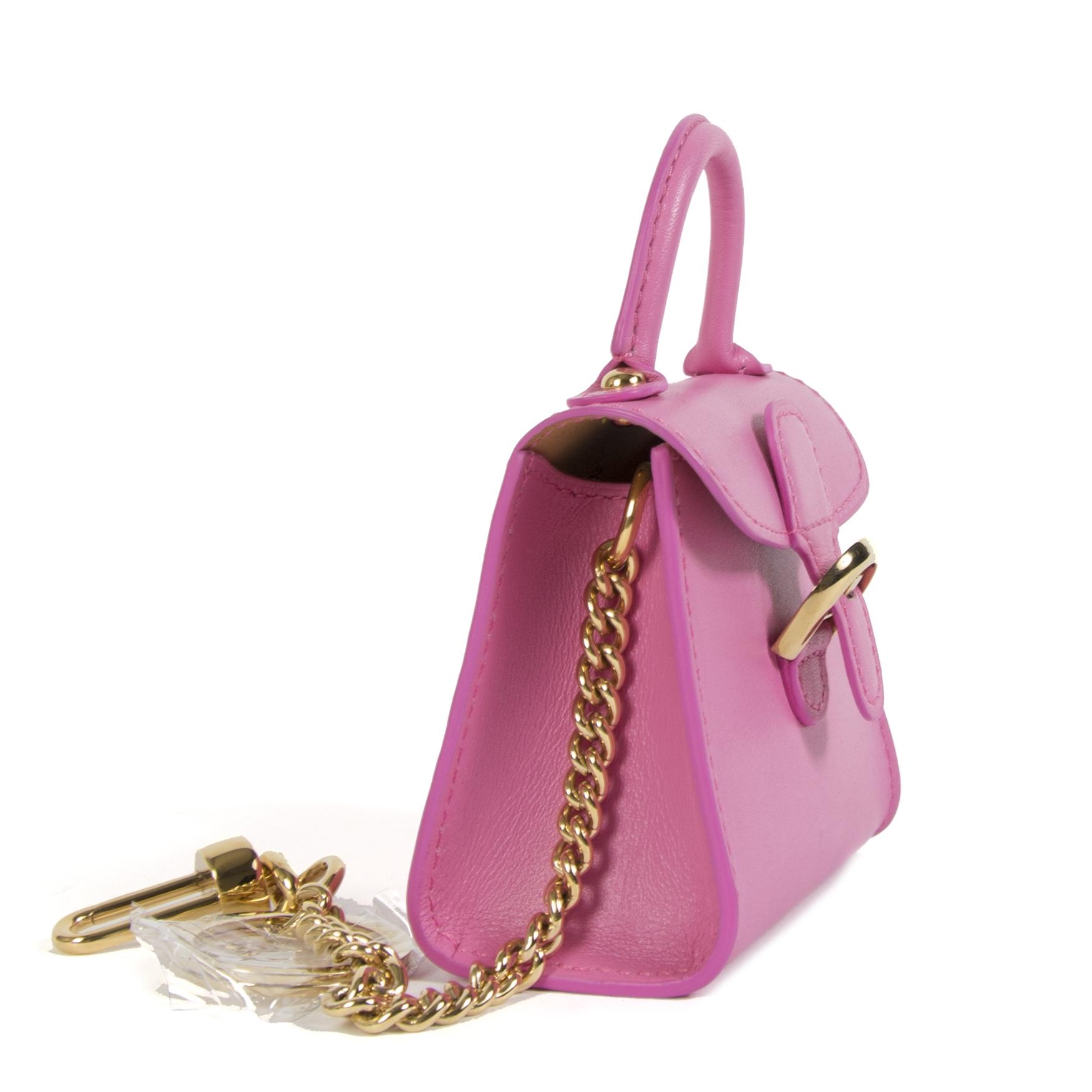 Authentieke tweedehands vintage Delvaux Brillant Charm Pink koop online webshop LabelLOV