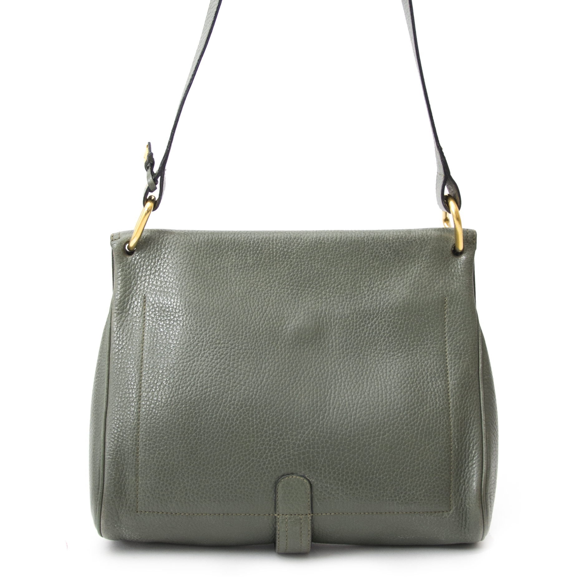 Are you looking for an authentic Delvaux Khaki Green Shoulder Bag?