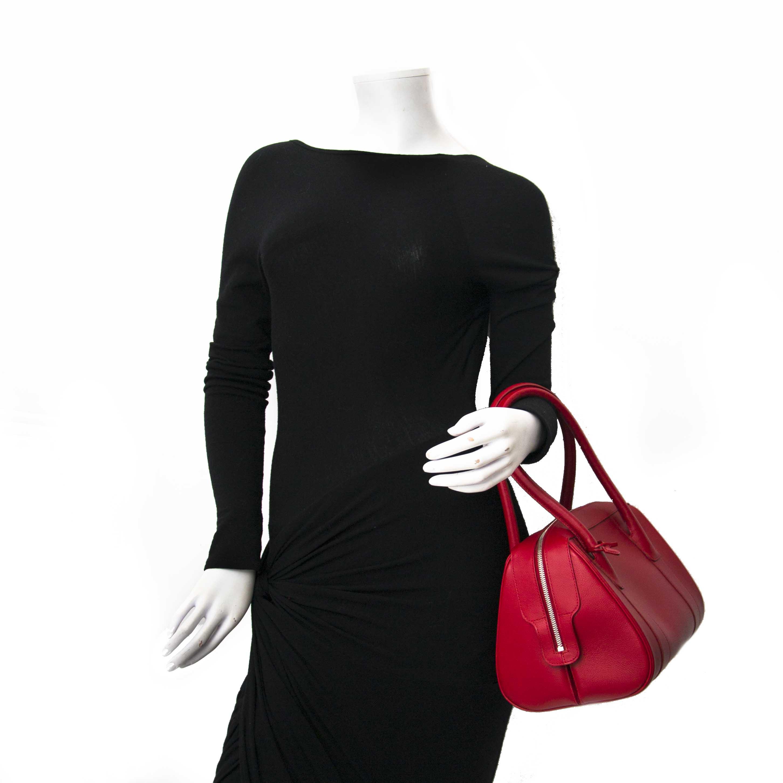 Delvaux Red Signature Shoulder Bag