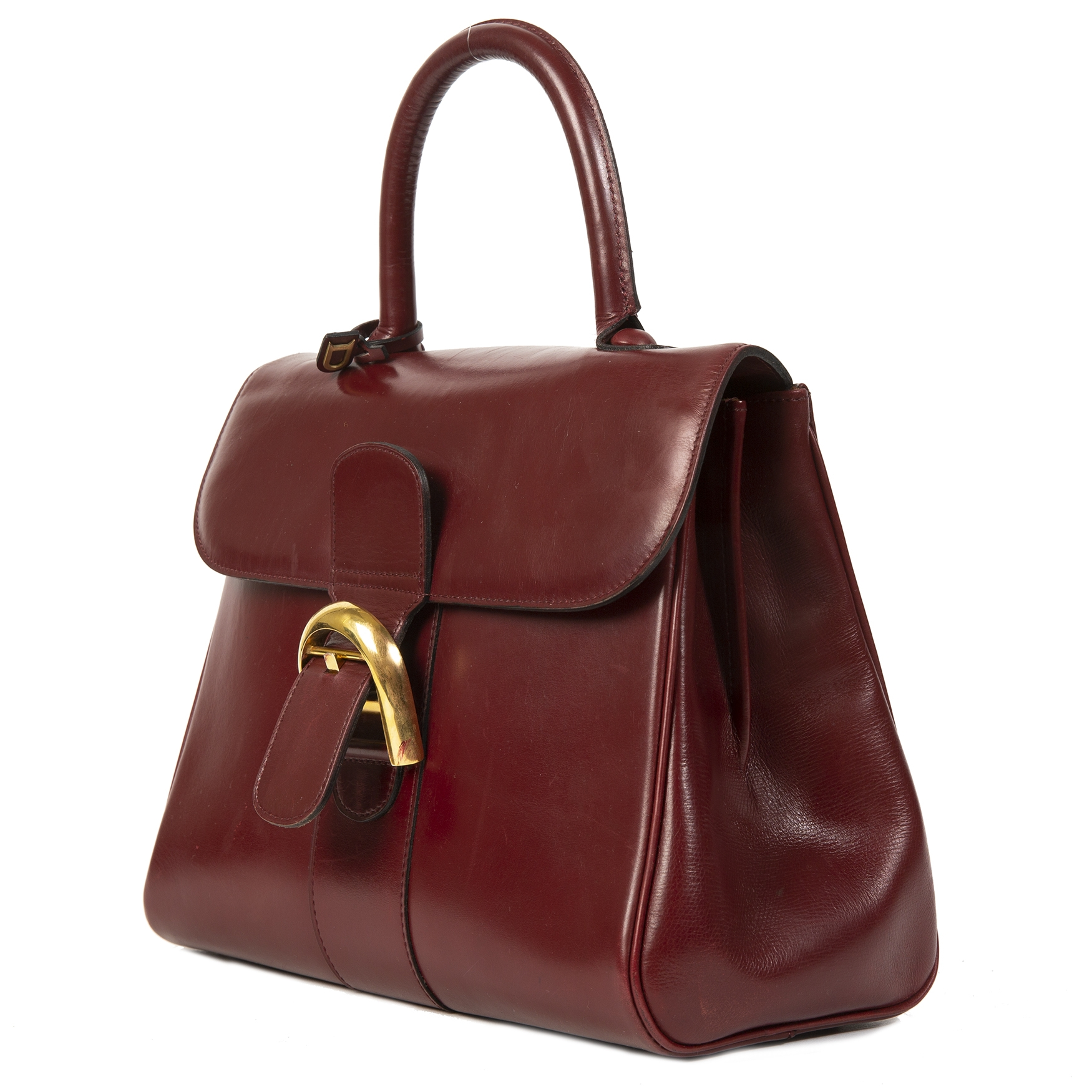 Delvaux Burgundy Boxcalf Brillant MM