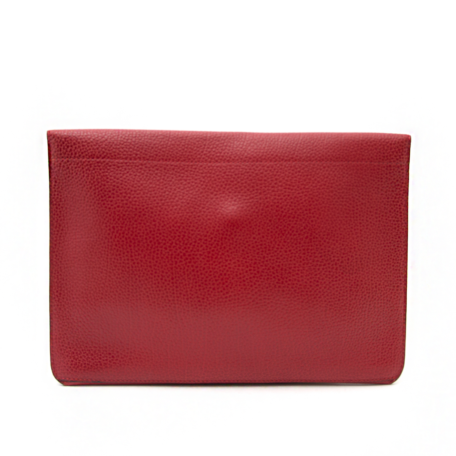 Delvaux Red Leather Envelope Clutch for sale in Belgium Antwerp at Labellov, safe and secure shopping and worldwide shipping.